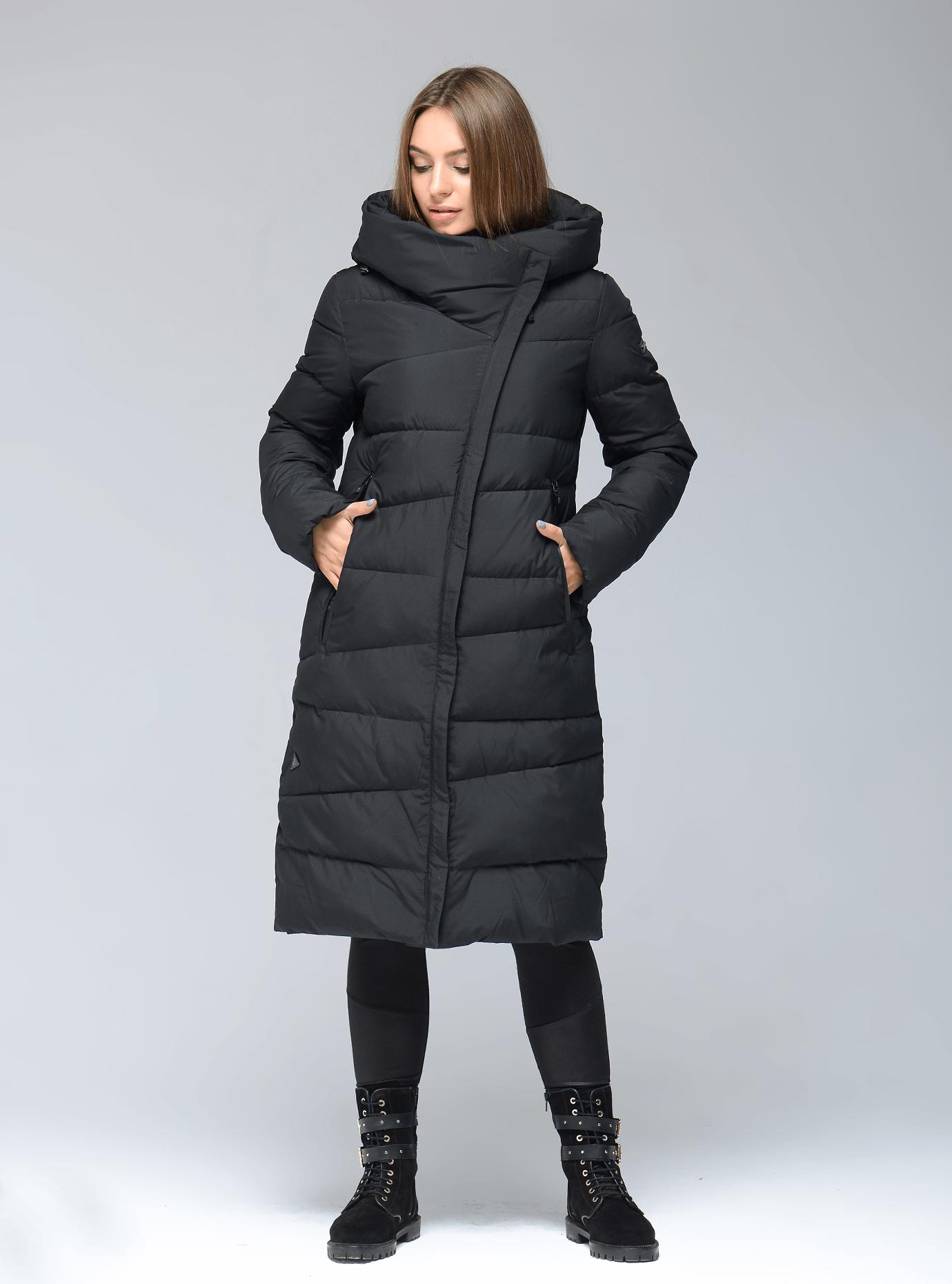 Куртка зимняя длинная прямая Чёрный S (02-SO19043): фото - Alster.ua