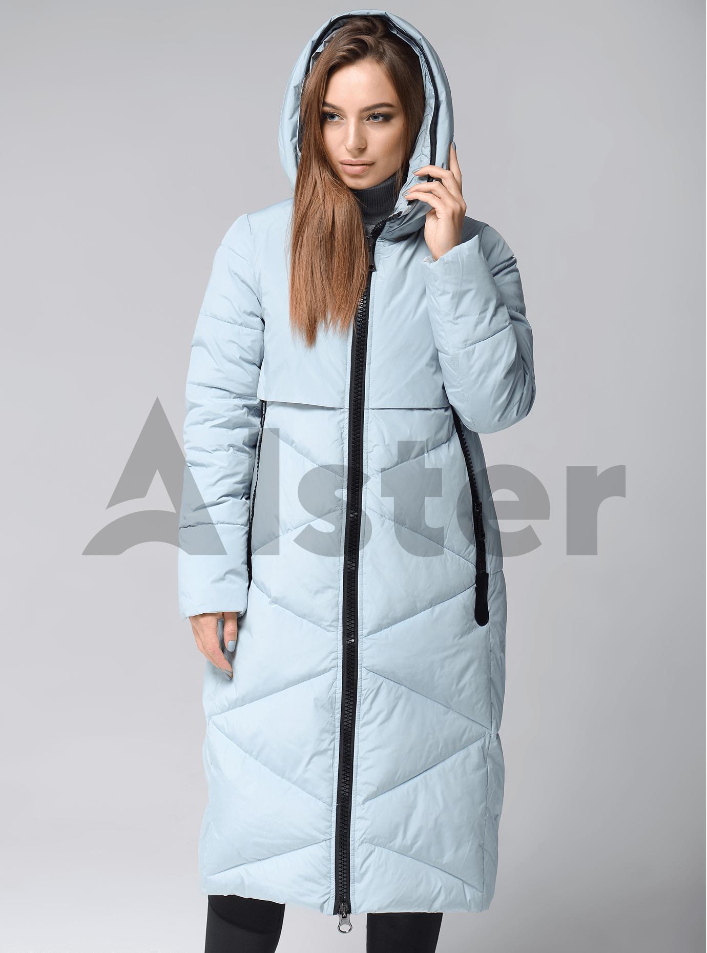 Куртка зимняя длинная стеганая Голубой S (02-SO19041): фото - Alster.ua