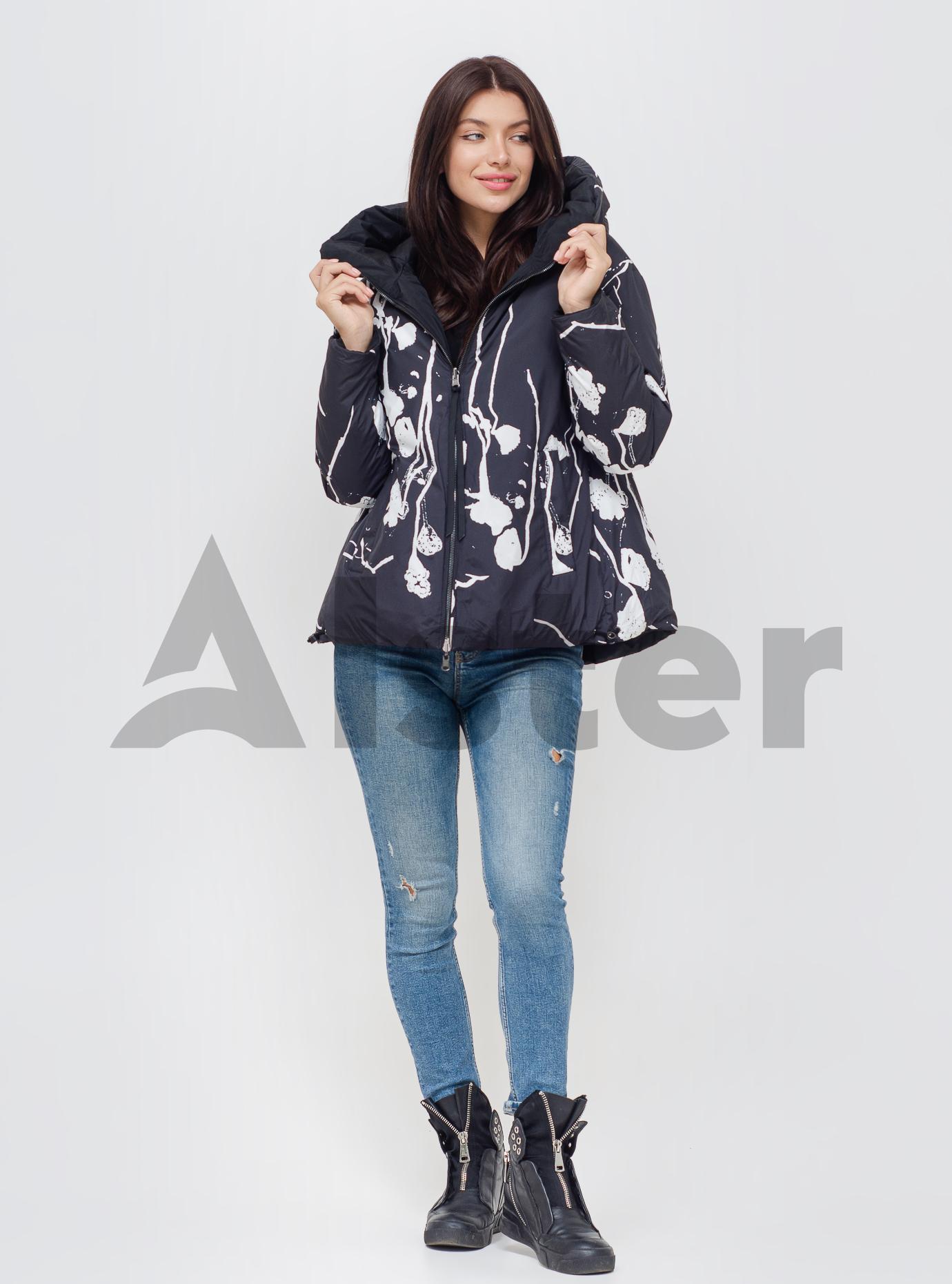 Куртка зимняя женская двусторонняя Чёрный 44 (06-KL201186): фото - Alster.ua