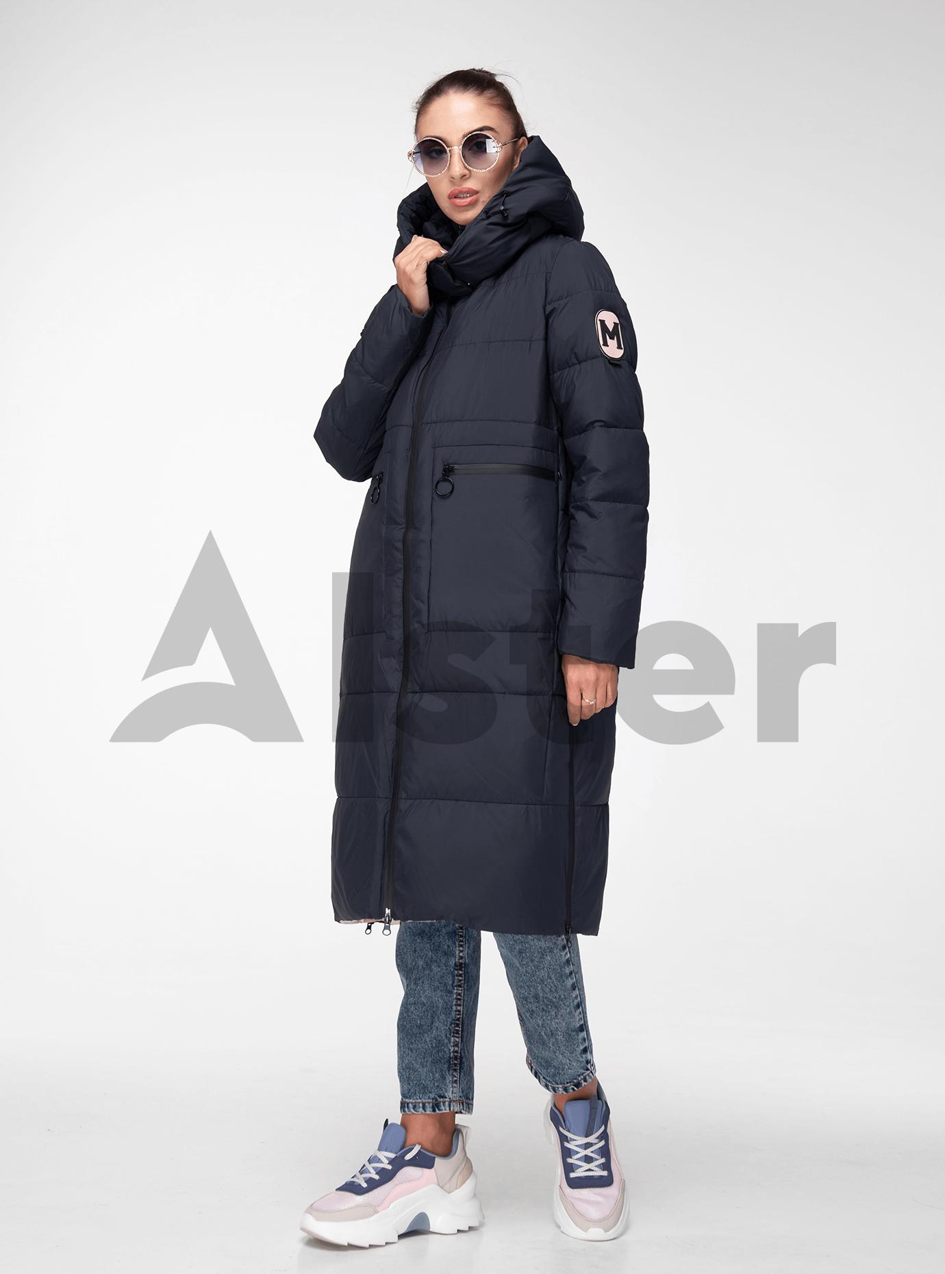 Куртка жіноча зимова довга Синій S (05-T19077): фото - Alster.ua