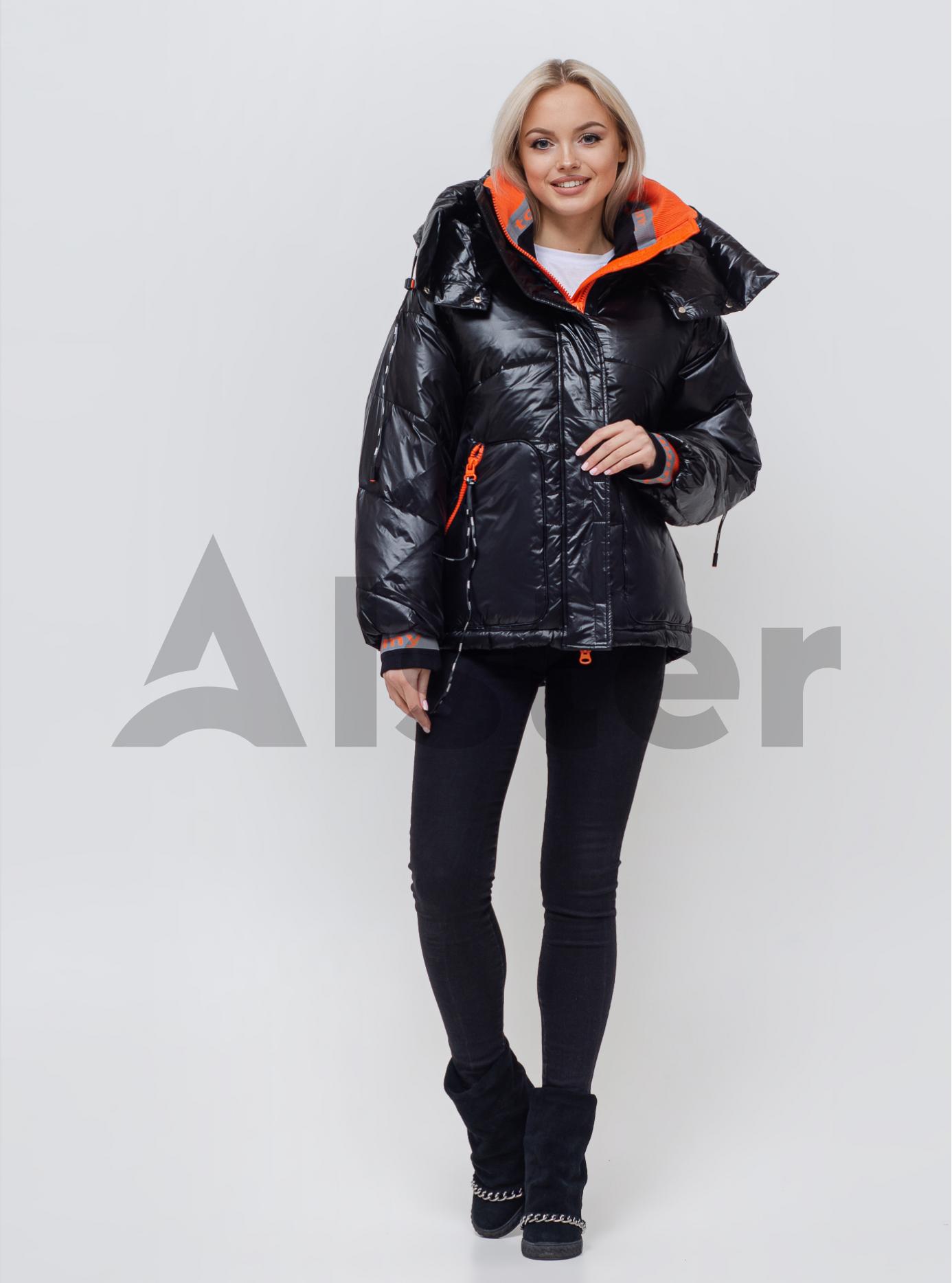 Куртка женская зимняя средней длины Чёрный S (05-SV201044): фото - Alster.ua