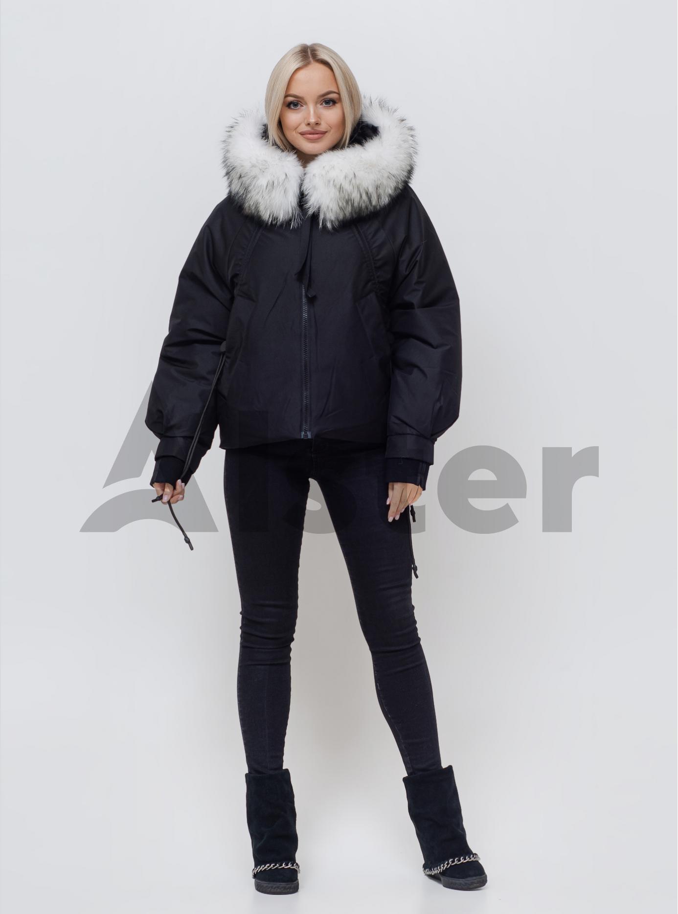 Жіноча зимова куртка з хутром Чорний M (05-SV201051): фото - Alster.ua