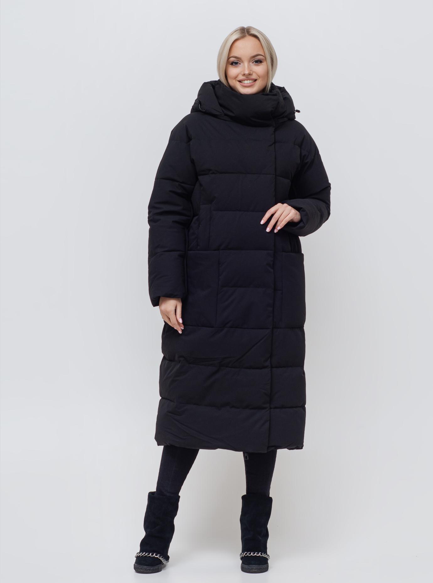Женская куртка со съемным капюшоном Чёрный S (06-KL201177): фото - Alster.ua