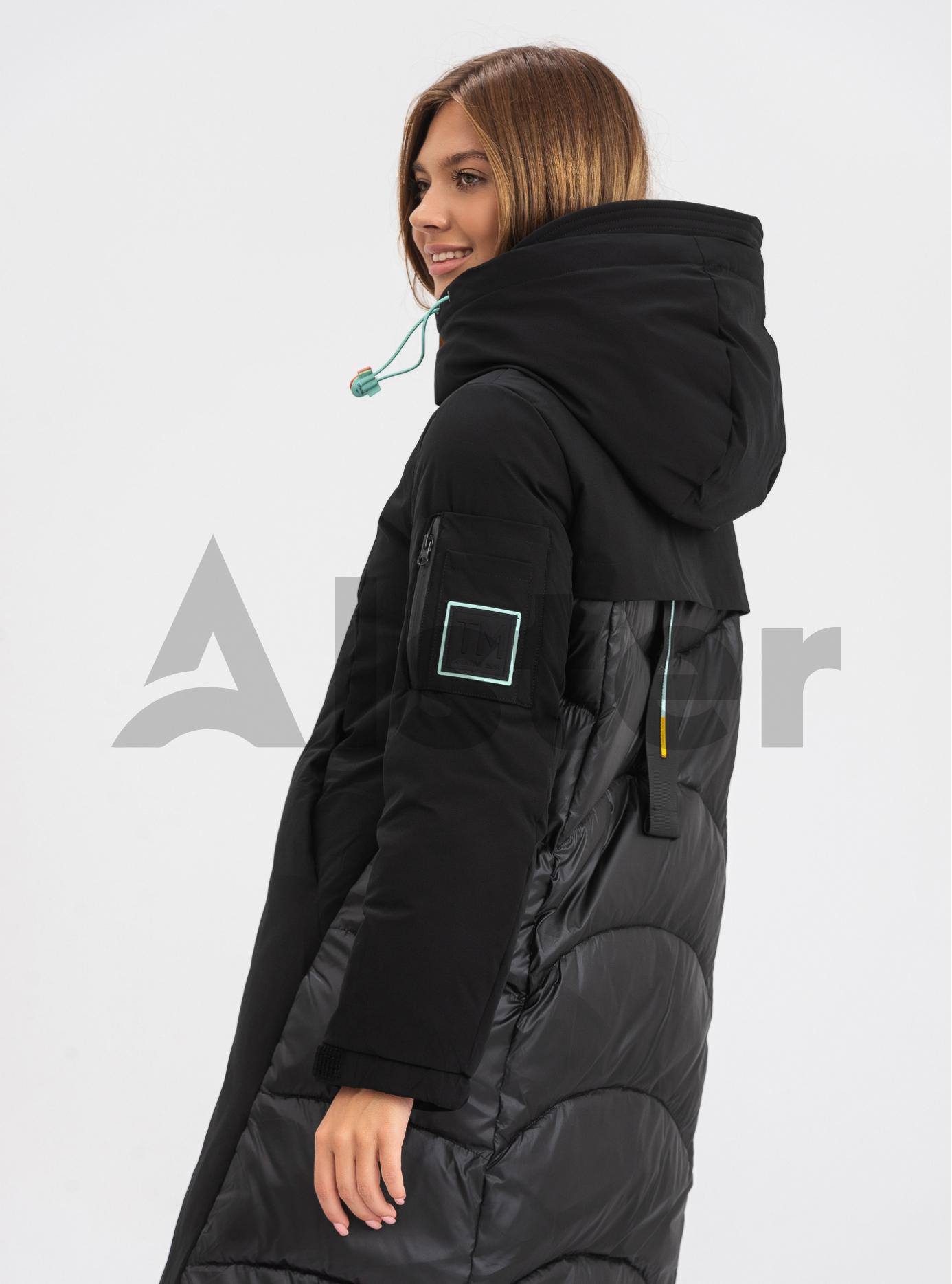 Жіноча зимова куртка середньої довжини TOWMY Чорний S (TWM3218-01): фото - Alster.ua