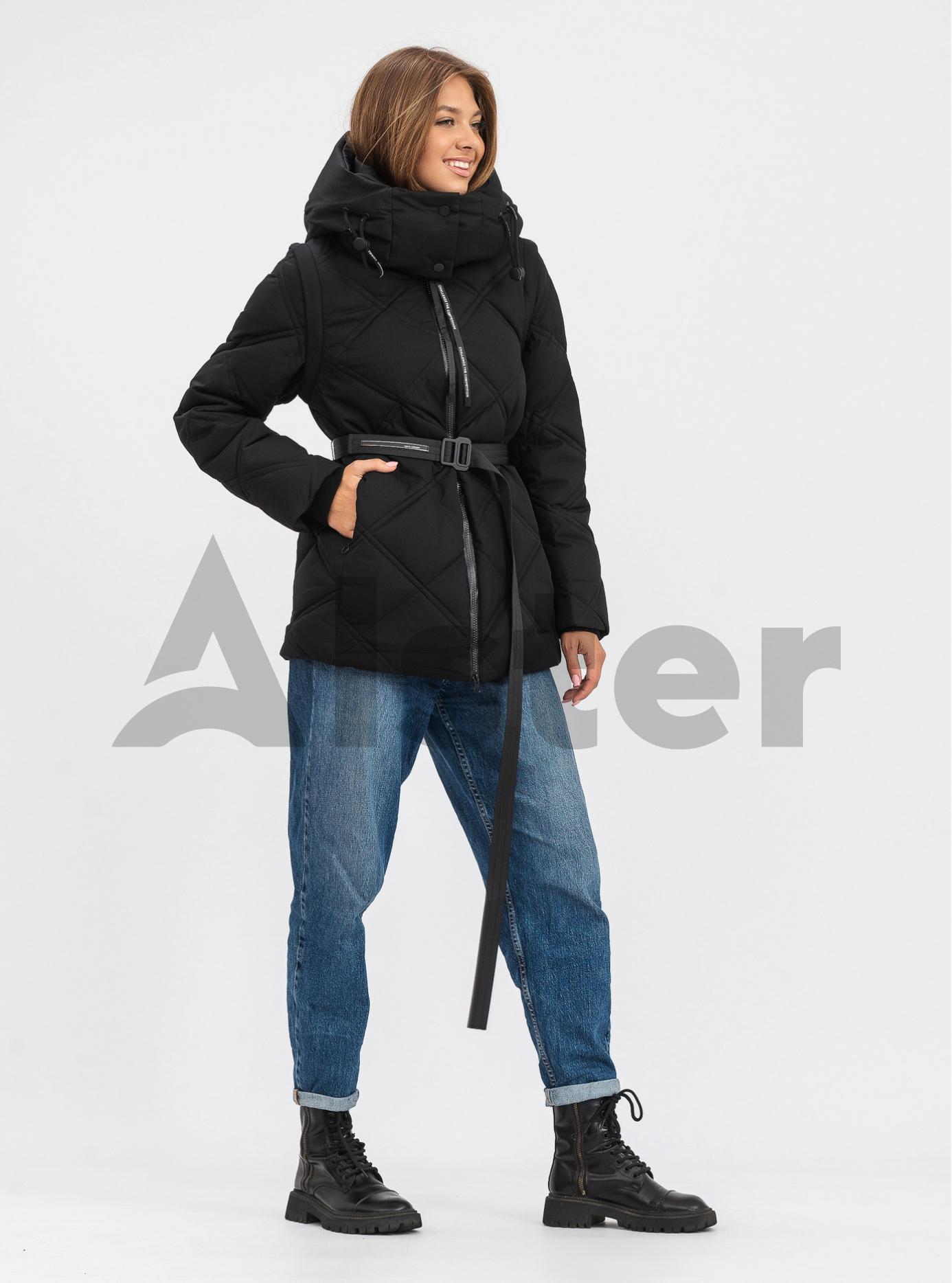 Жіноча зимова куртка трансформер TOWMY Чорний S (TWM3280-01): фото - Alster.ua