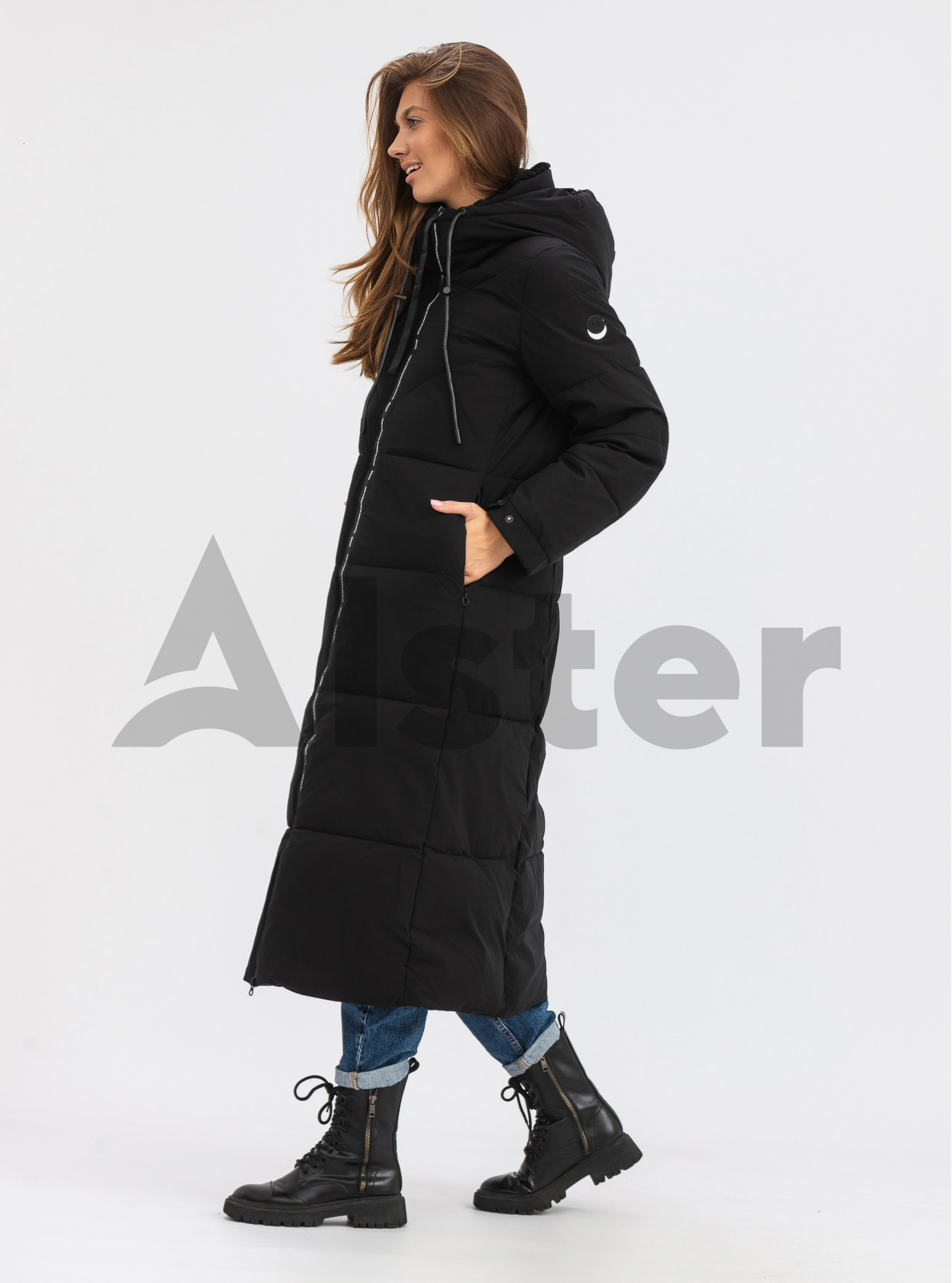 Куртка жіноча довга зимова TOWMY Чорний M (TWM3520-02): фото - Alster.ua