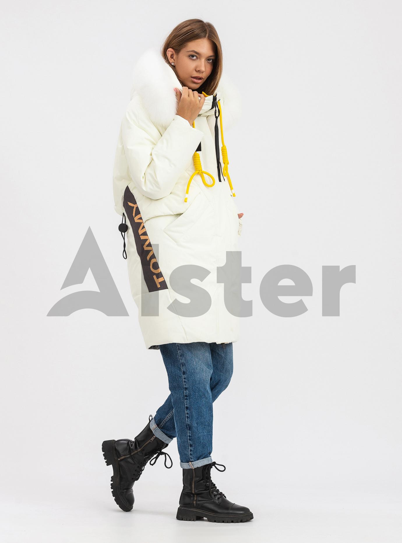 Жіноча зимова куртка середньої довжини TOWMY Бежевий L (TWM546-06): фото - Alster.ua