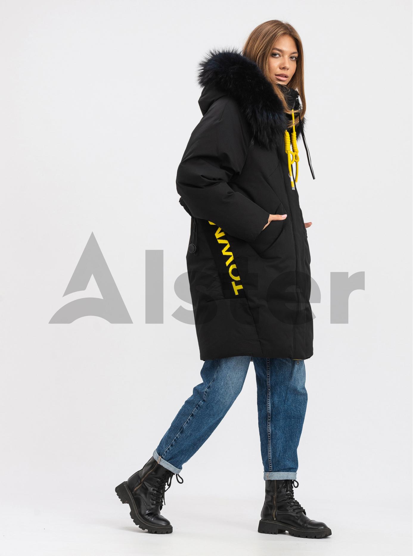 Жіноча зимова куртка середньої довжини TOWMY Чорний M (TWM546-02): фото - Alster.ua
