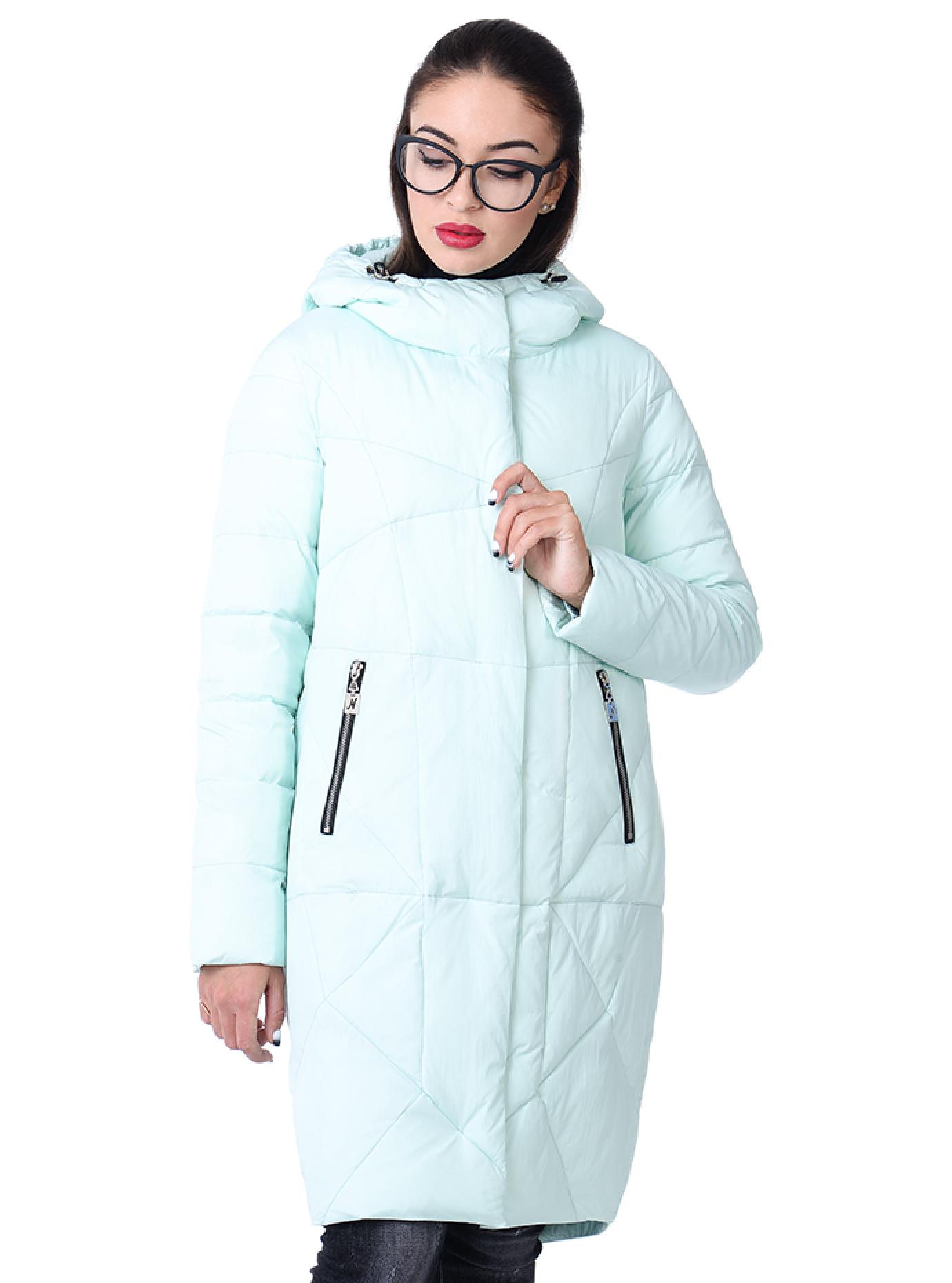 Куртка зимняя с удлиненной спинкой Голубой S (05-V191290): фото - Alster.ua