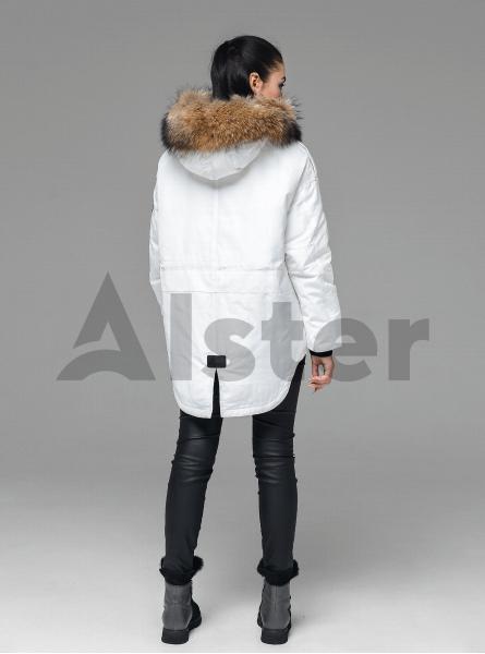 Зимова куртка-парка з хутром єнота