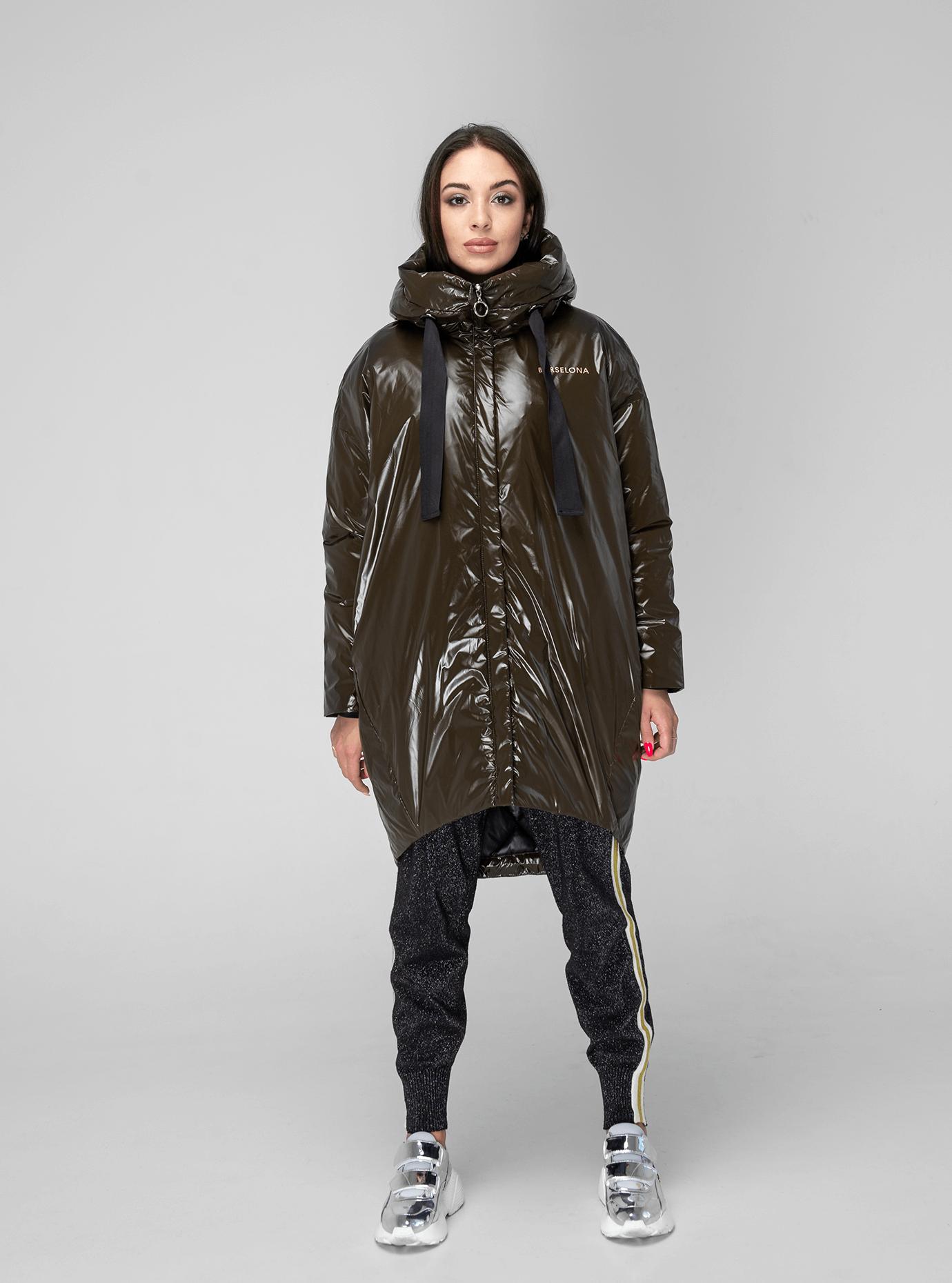 Куртка зимняя длинная зауженная Коричневый XL (02-V191130): фото - Alster.ua