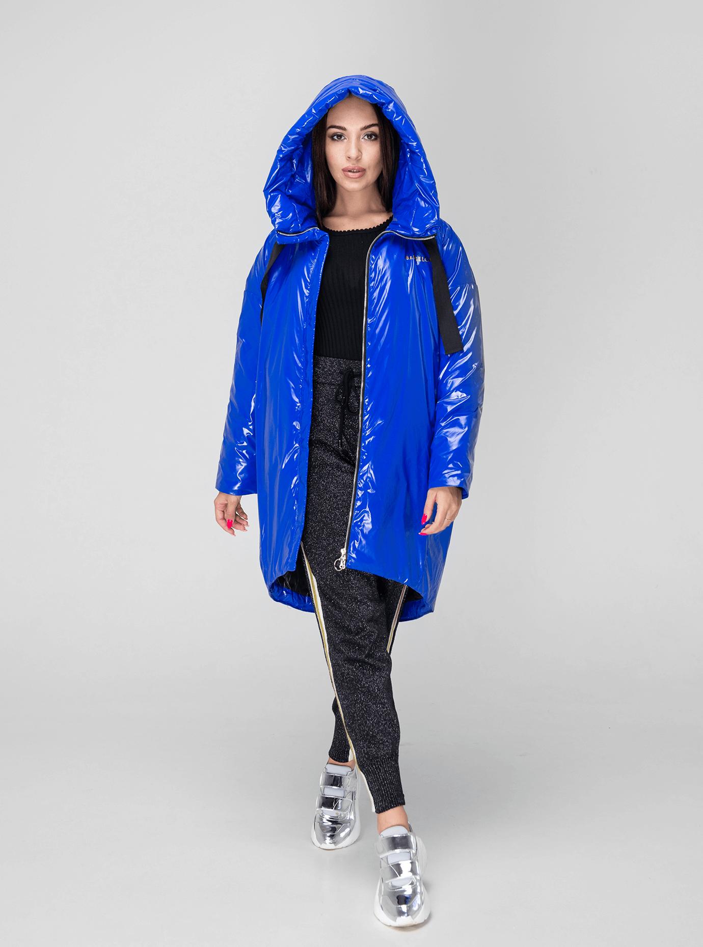 Куртка зимняя длинная зауженная Синий M (02-V191124): фото - Alster.ua