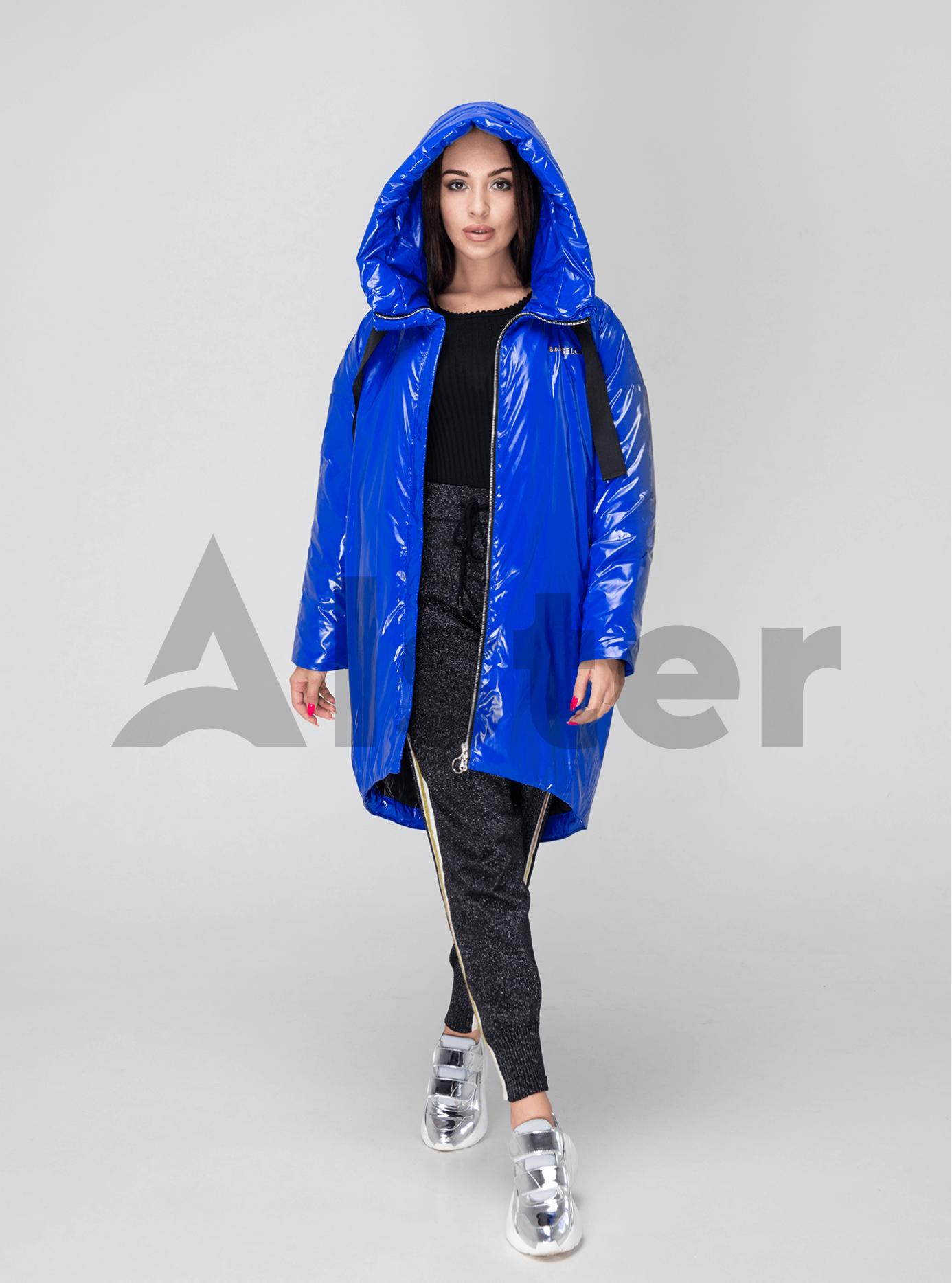 Куртка зимняя длинная зауженная Синий XL (02-V191126): фото - Alster.ua