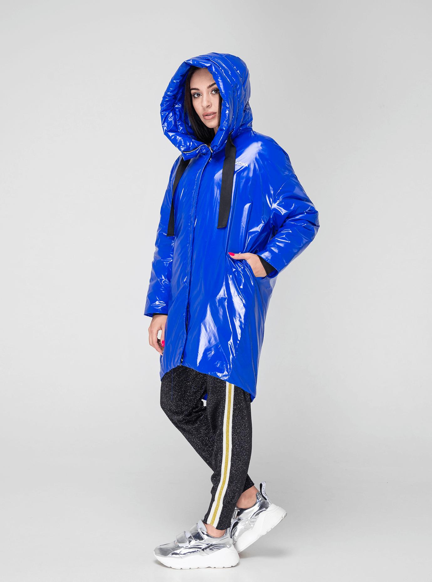 Куртка зимняя длинная зауженная Синий S (02-V191123): фото - Alster.ua
