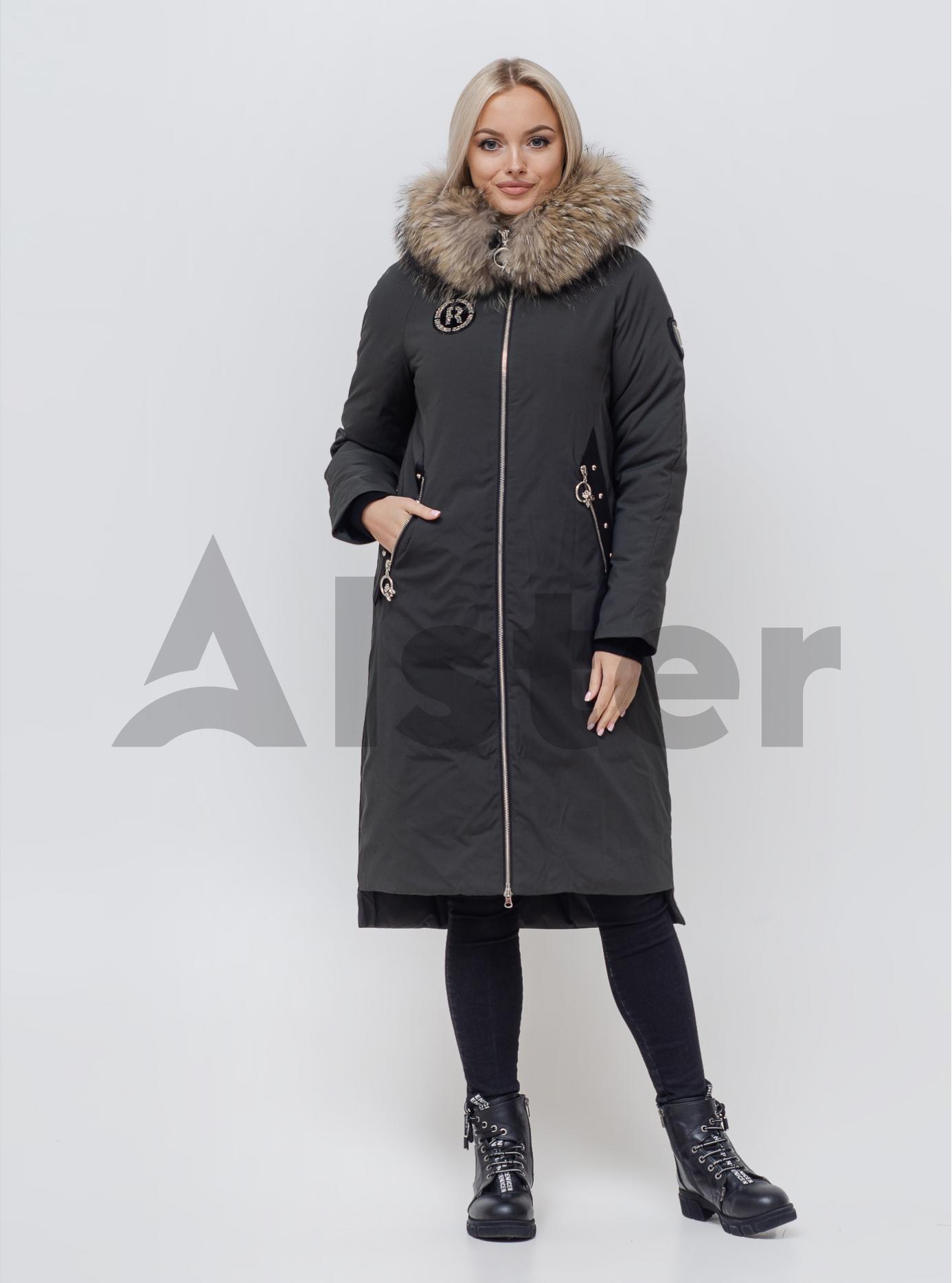 Куртка зимняя женская с мехом Тёмно-серый S (06-KL201086): фото - Alster.ua