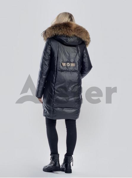 Куртка зимова з хутром єнота