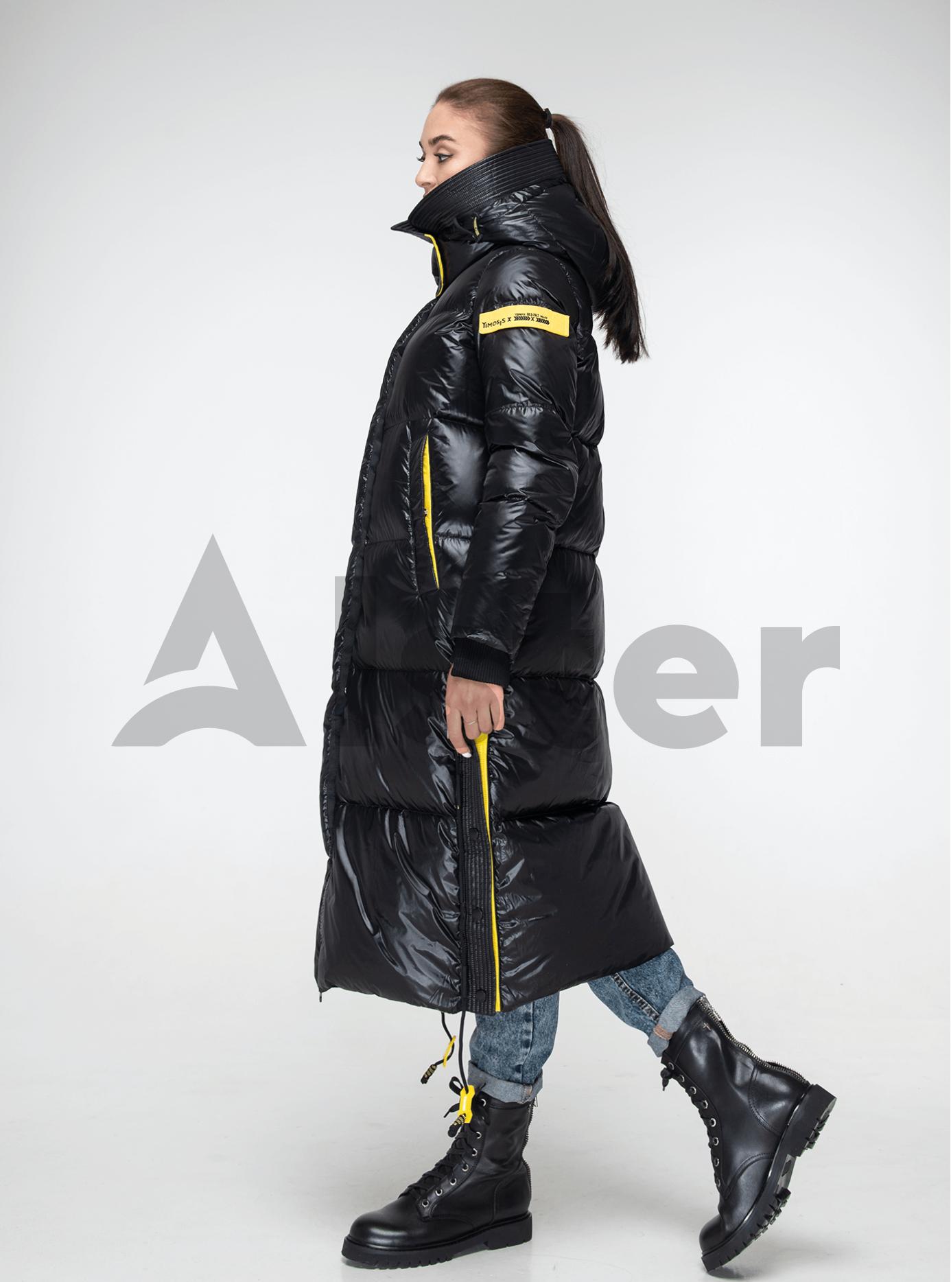 Пуховик женский длинный Чёрный L (02-Y191098): фото - Alster.ua
