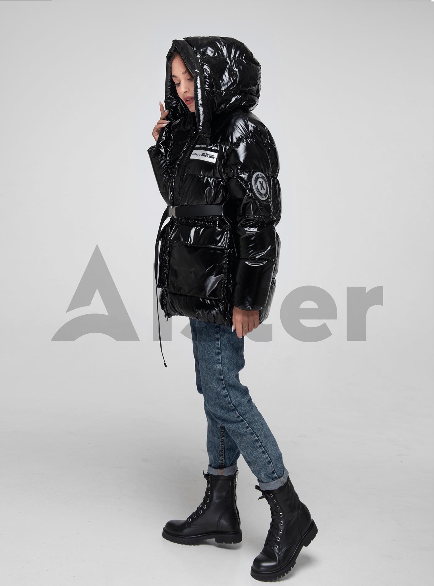Пуховик женский средней длины Чёрный L (02-Y191090): фото - Alster.ua