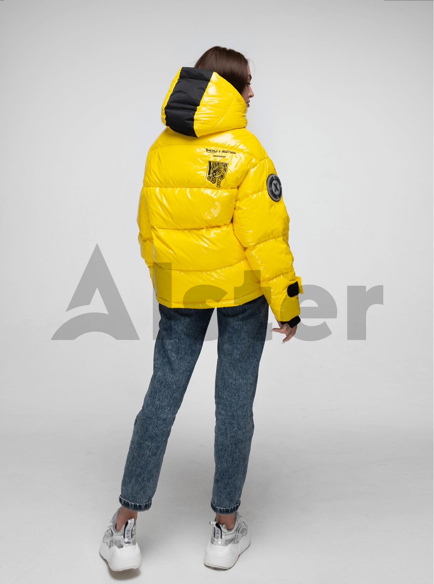Пуховик зимний короткий Жёлтый L (02-Y191114): фото - Alster.ua