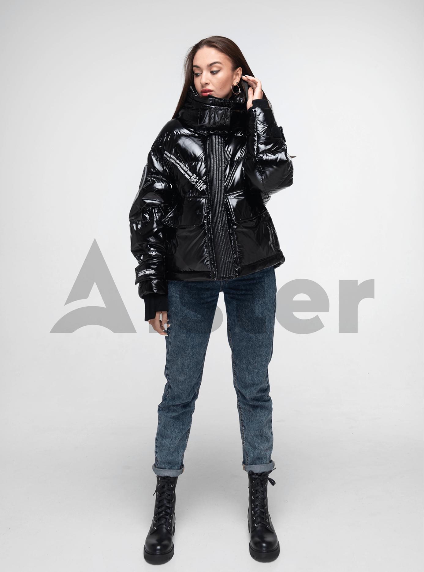 Пуховик зимний короткий Чёрный S (02-Y191111): фото - Alster.ua