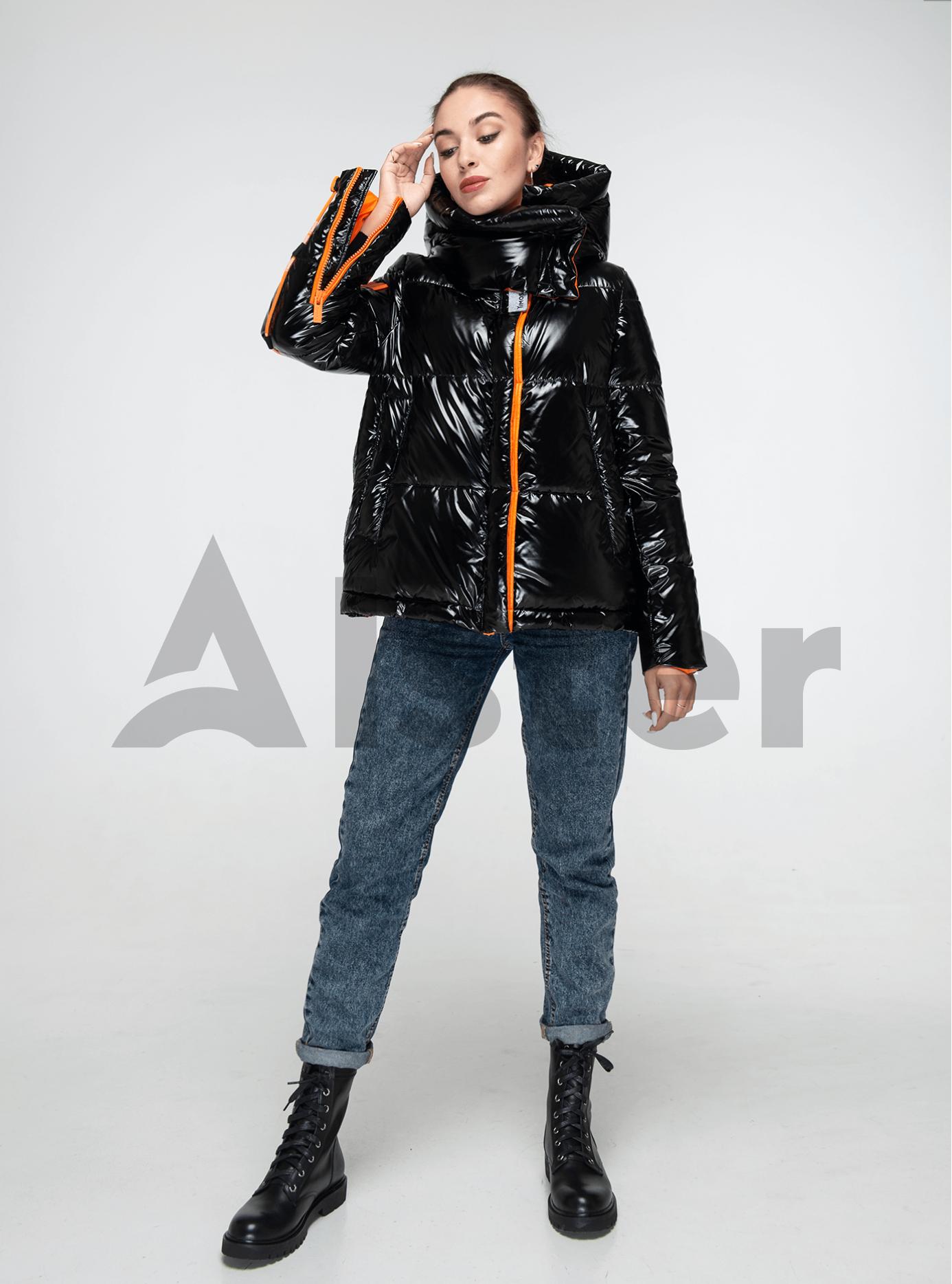 Пуховик женский короткий на молнии Чёрный M (02-Y191134): фото - Alster.ua