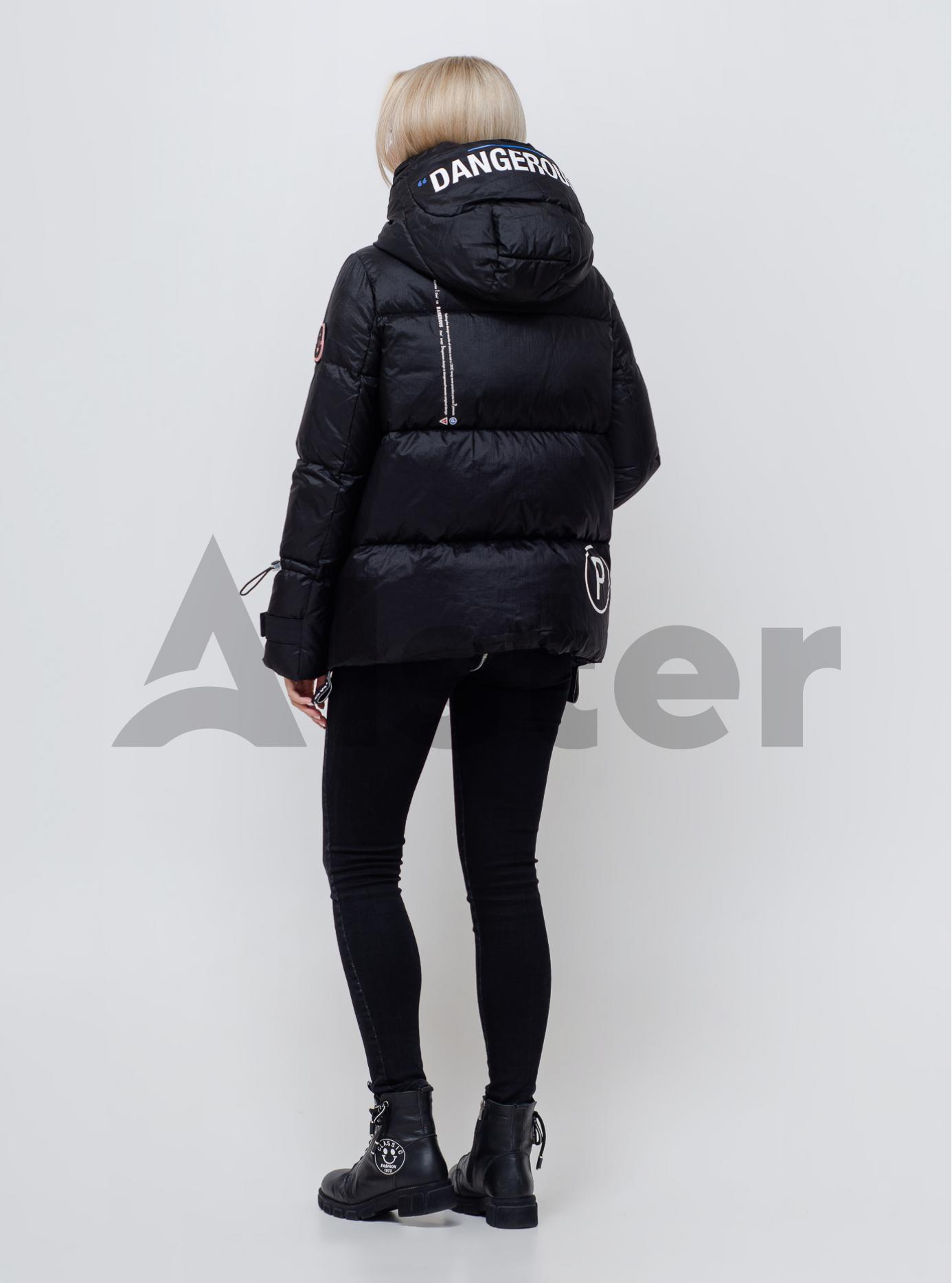 Женский пуховик с капюшоном Чёрный S (05-SV201168): фото - Alster.ua