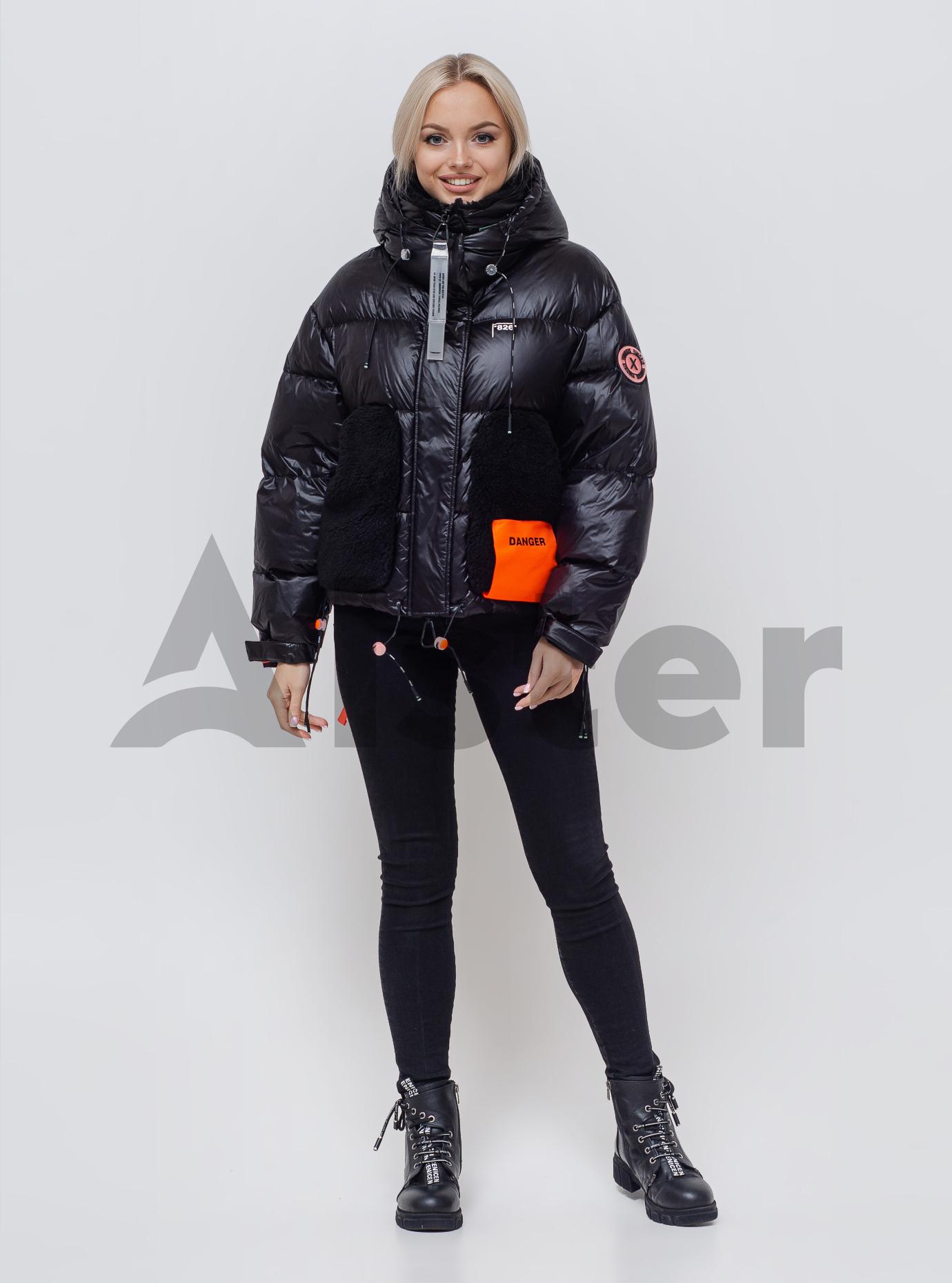 Женский пуховик с капюшоном Чёрный M (05-SV201175): фото - Alster.ua
