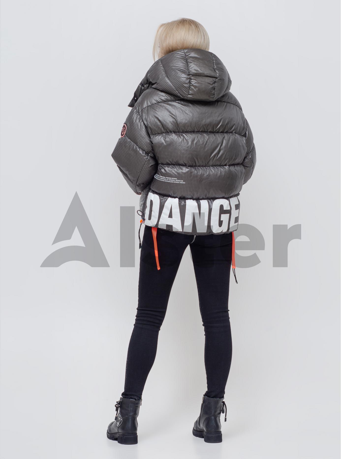 Женский пуховик с капюшоном Серый L (05-SV201179): фото - Alster.ua
