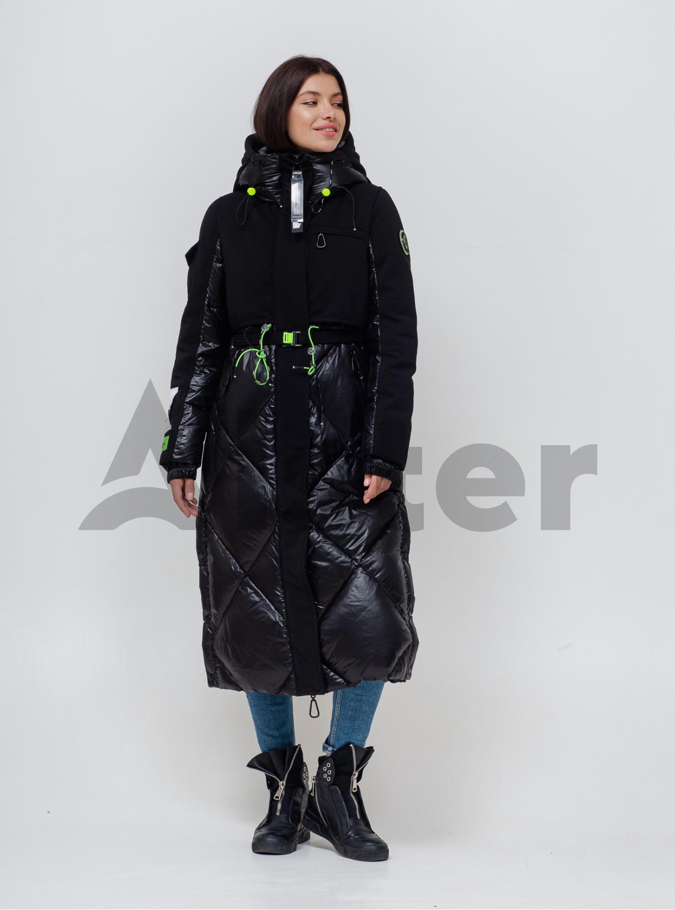 Пуховик женский Чёрный M (06-KL201149): фото - Alster.ua