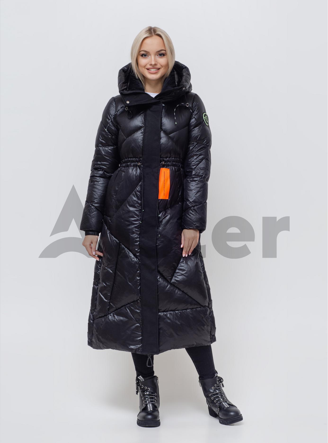 Женский пуховик с капюшоном Чёрный L (05-SV201167): фото - Alster.ua
