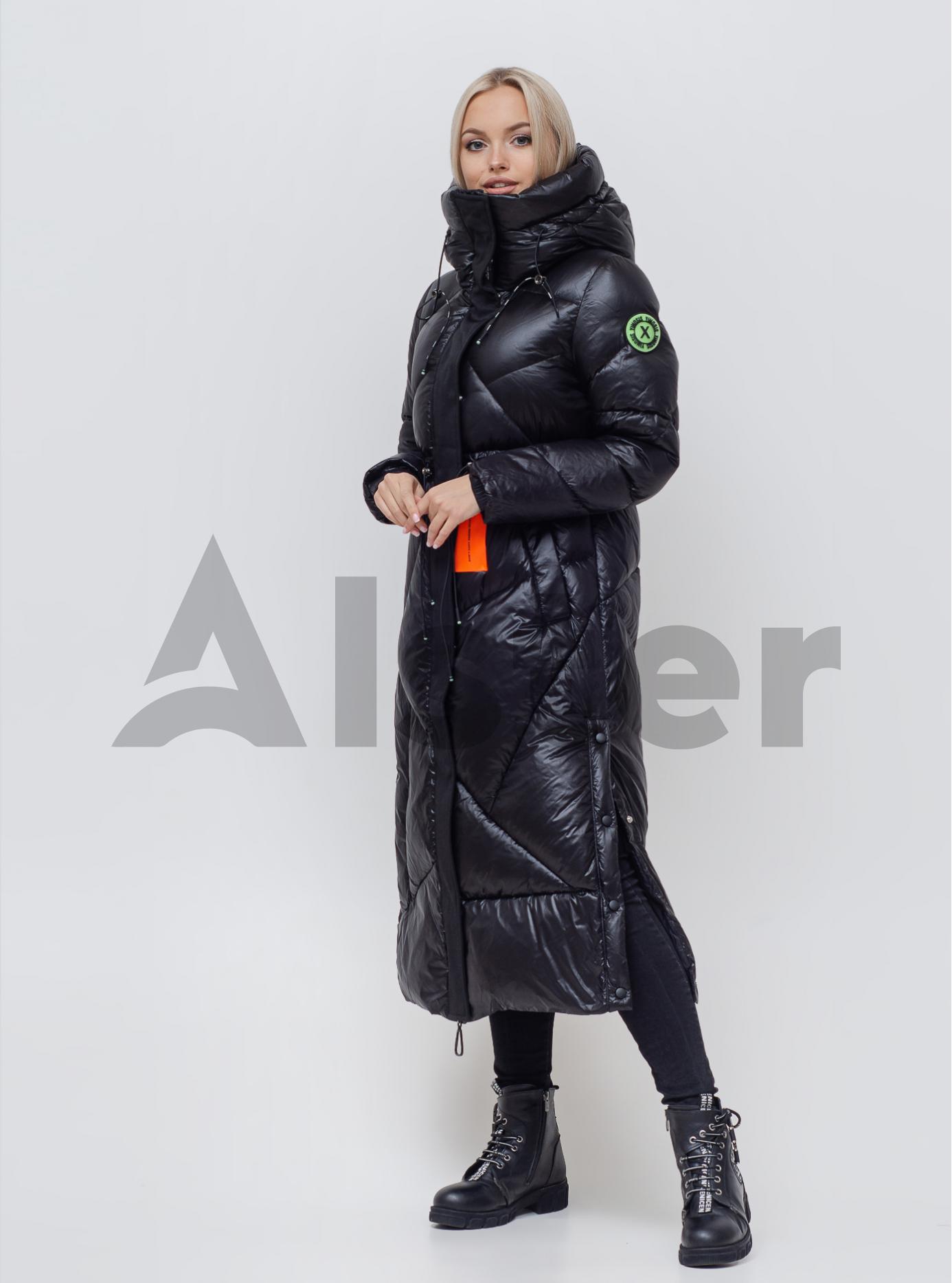 Жіночий пуховик з капюшоном Чорний S (05-SV201165): фото - Alster.ua