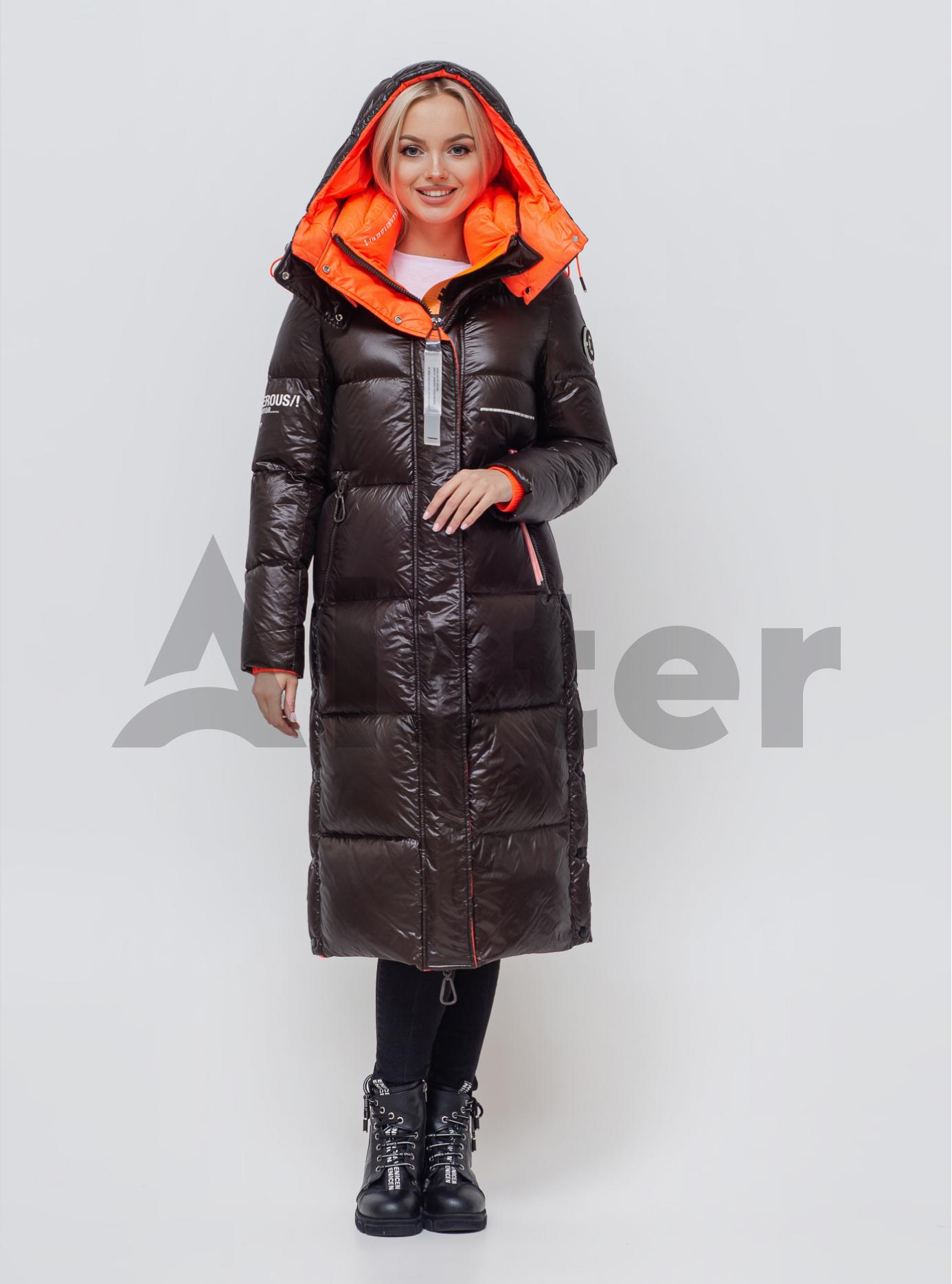Пуховик жіночий Коричневий S (05-SV201195): фото - Alster.ua