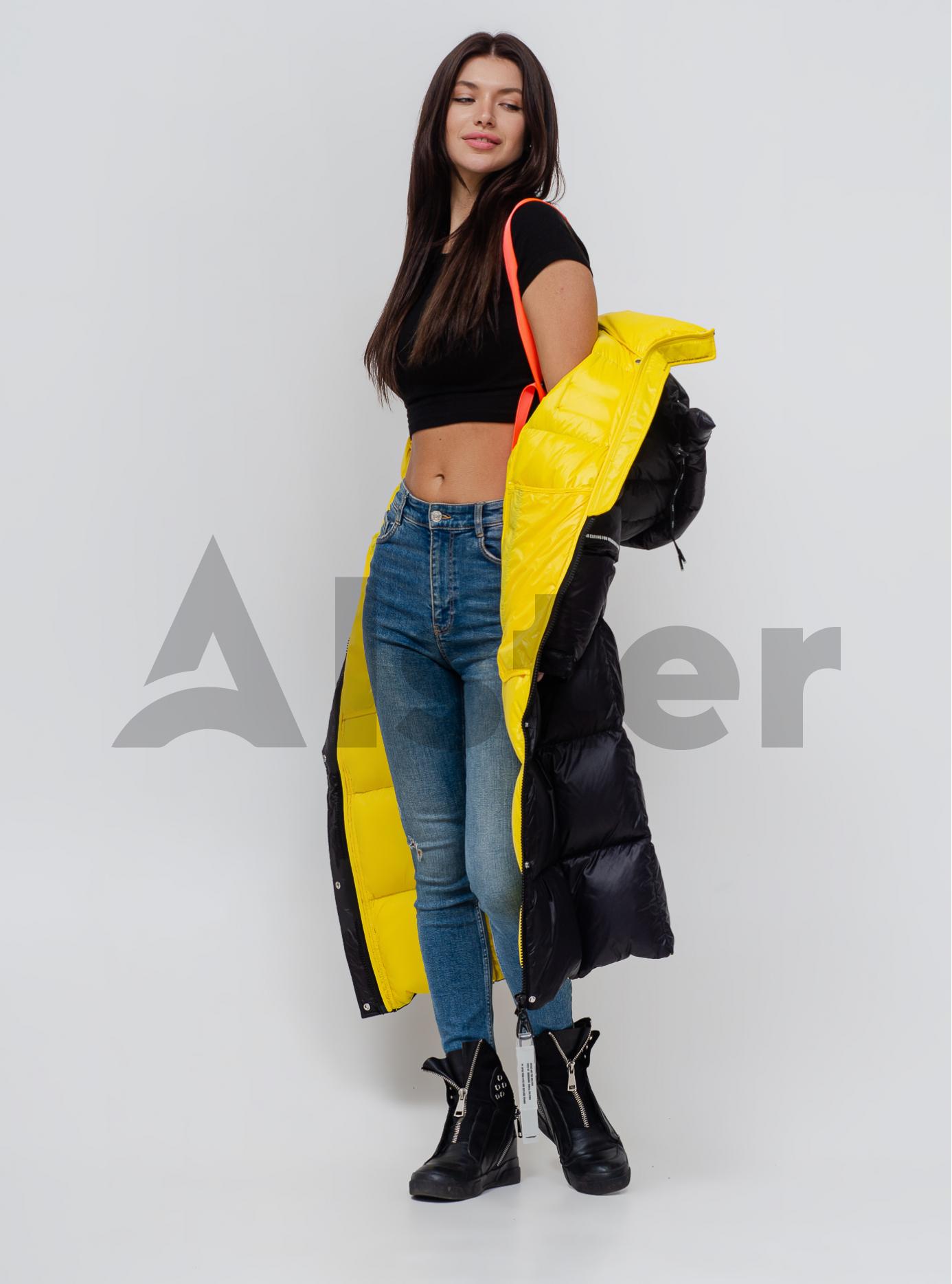Пуховик женкий с капюшоном Чёрный S (05-SV201186): фото - Alster.ua