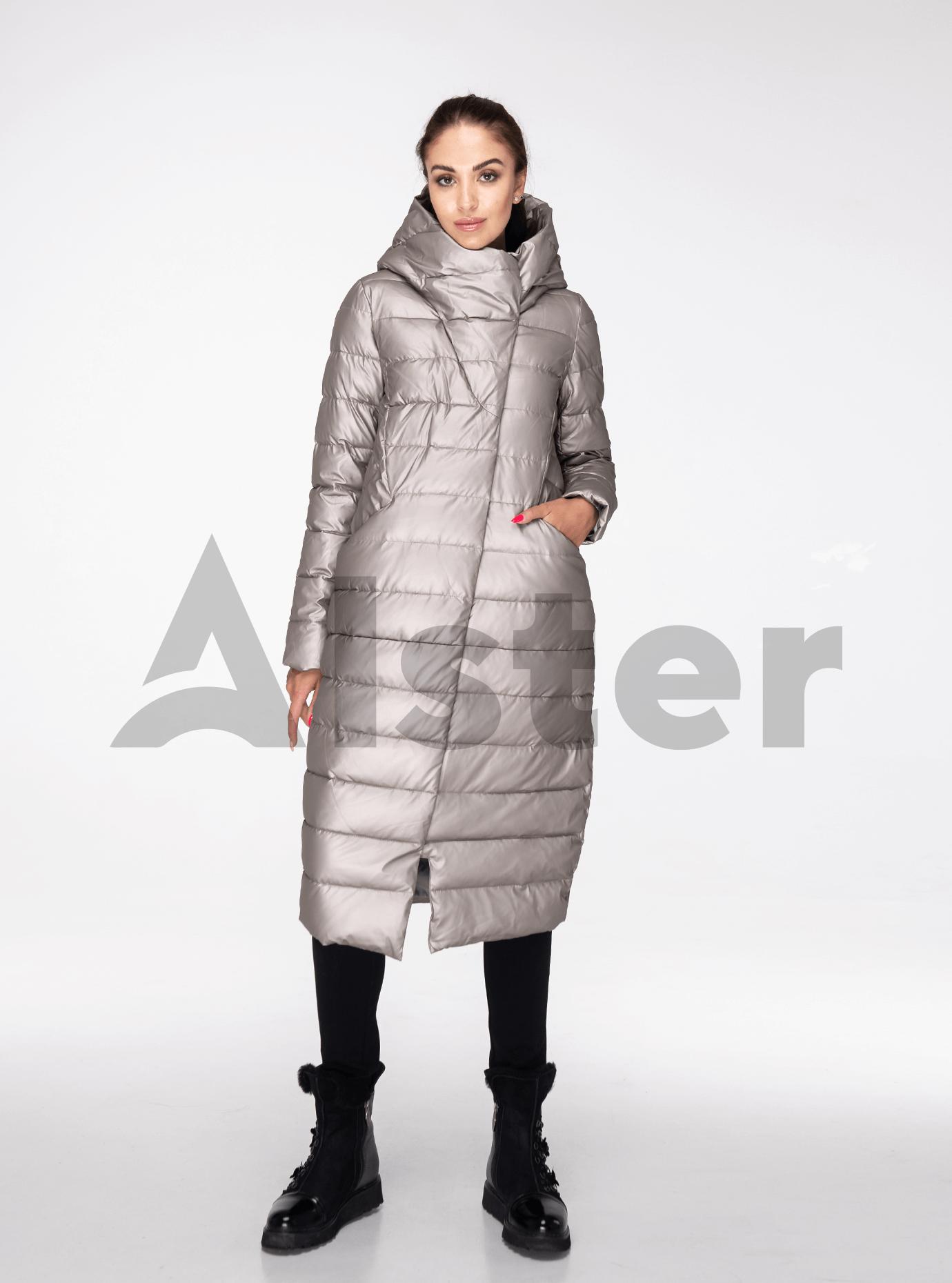 Куртка зимова довга пряма Світло-сірий S (05-ZL2391): фото - Alster.ua