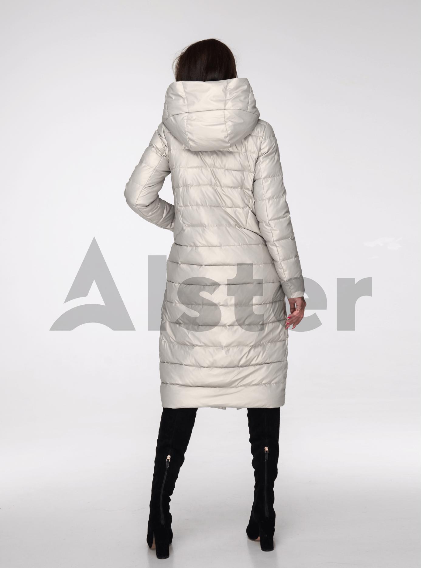 Куртка зимова довга пряма Молочний S (05-ZL2407): фото - Alster.ua