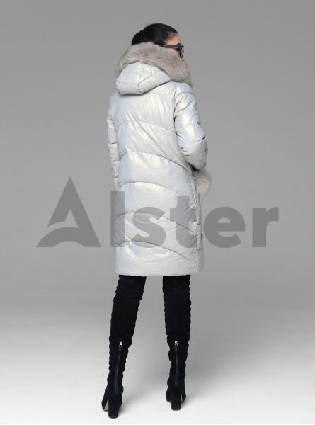 Куртка зимова пряма з хутром песця
