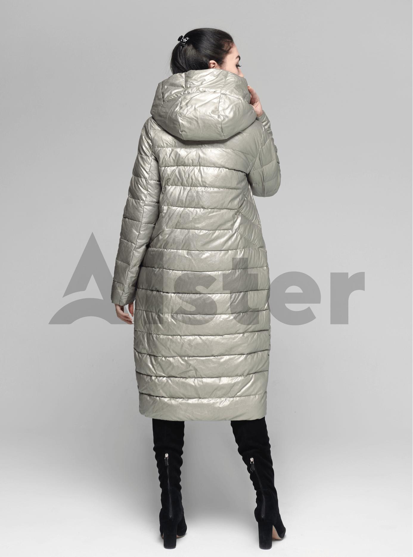Куртка зимняя длинная с капюшоном Зелёный S (05-ZL2196): фото - Alster.ua