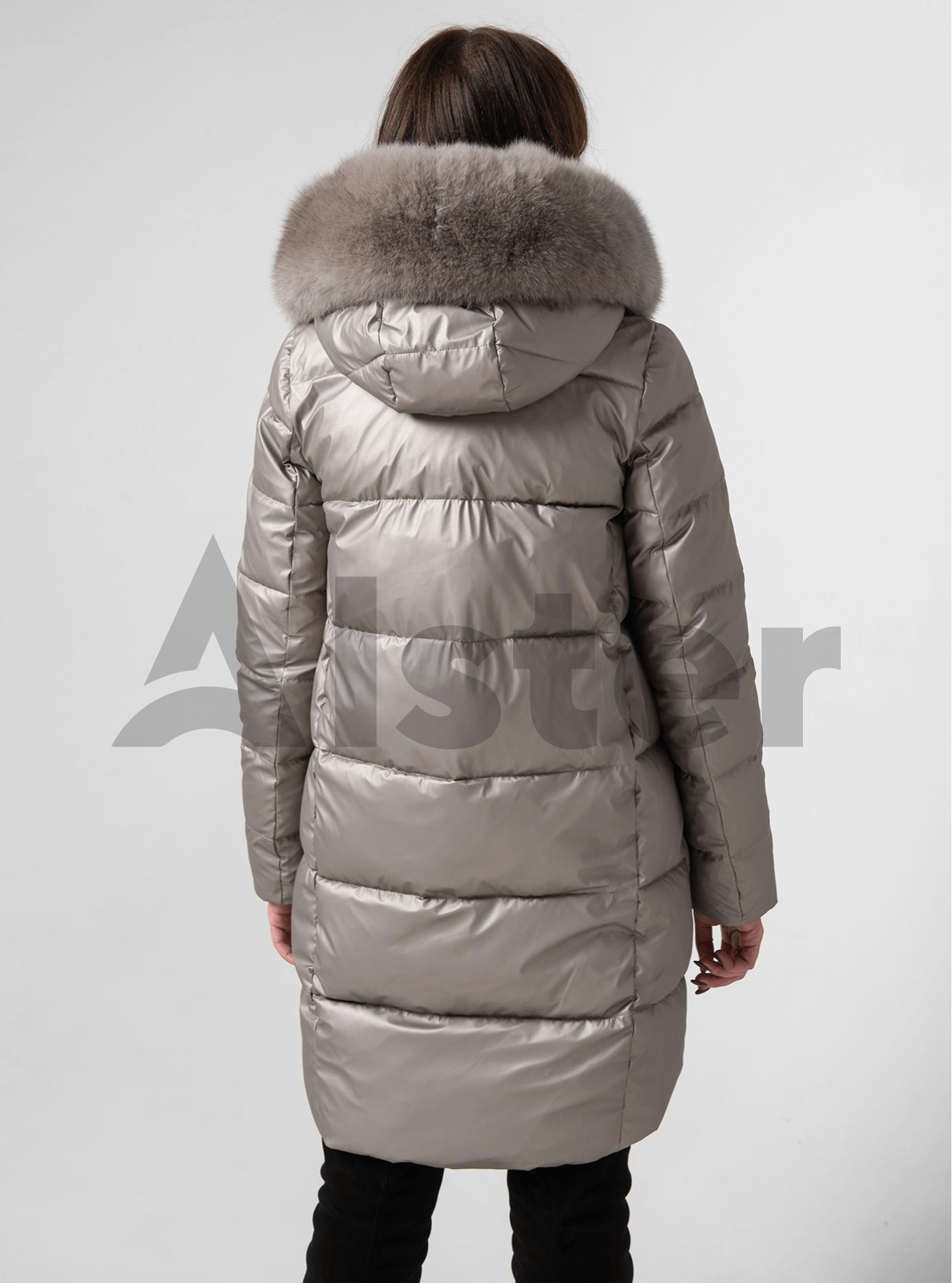Куртка зимова пряма з натуральним хутром єнота Бежевий 2XL (05-ZL2080): фото - Alster.ua