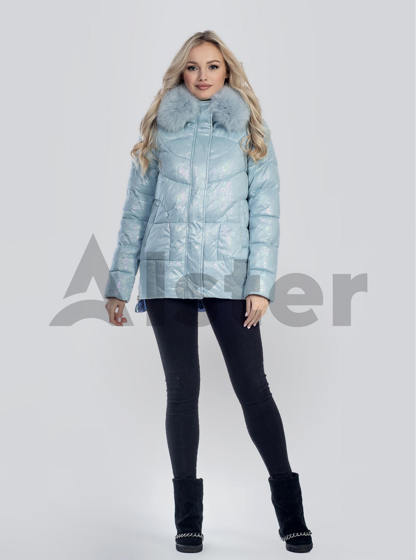 Зимова жіноча куртка з хутром Світло-блакитний S (05-SV201227): фото - Alster.ua