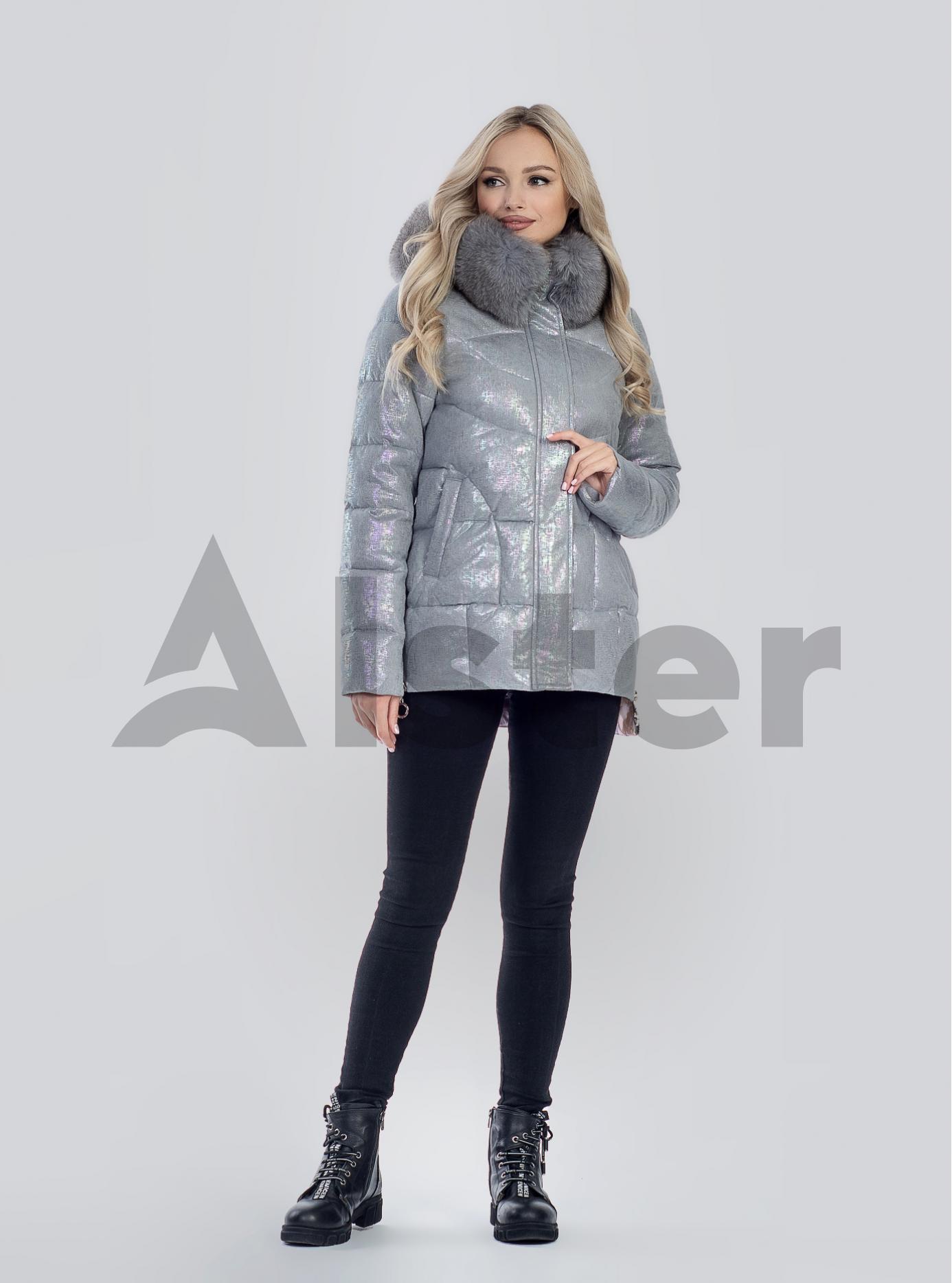 Зимова жіноча куртка з хутром Сірий M (05-SV201218): фото - Alster.ua
