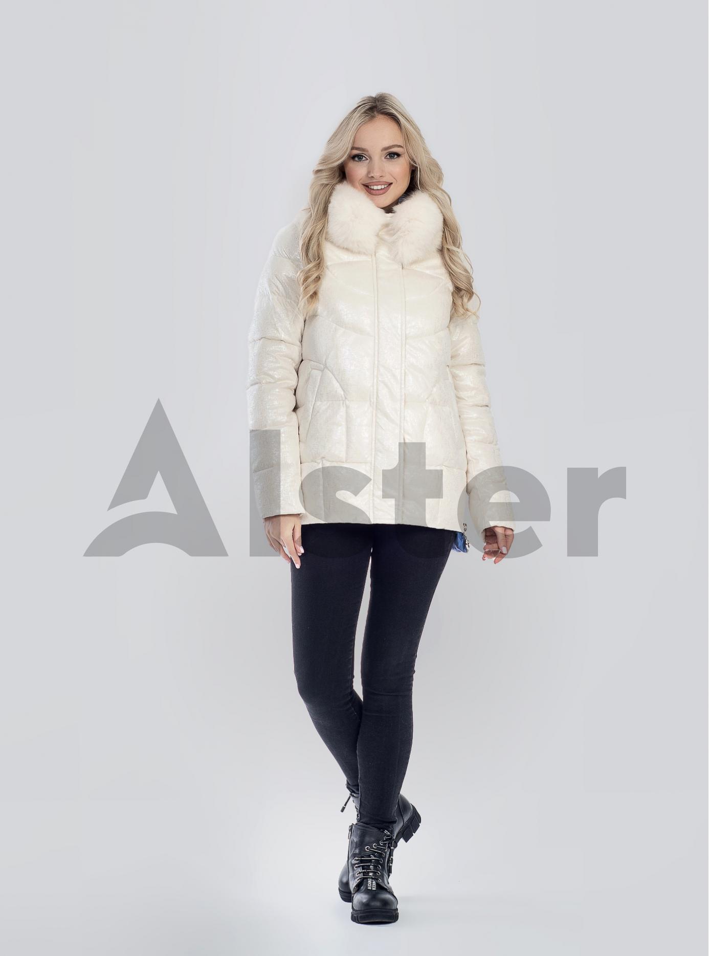 Зимова жіноча куртка з хутром Бежевий M (05-SV201223): фото - Alster.ua