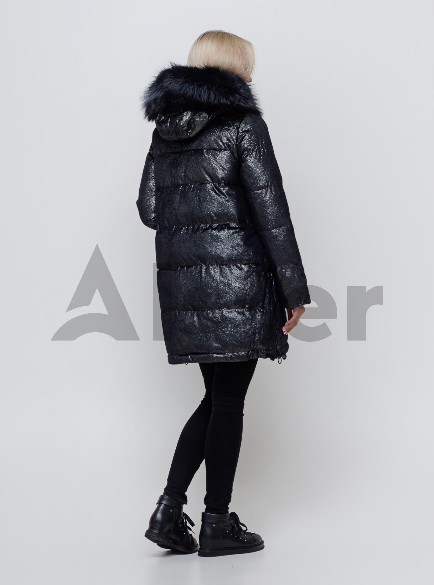 Жіноча зимова куртка з хутром Чорний S (05-SV201079): фото - Alster.ua