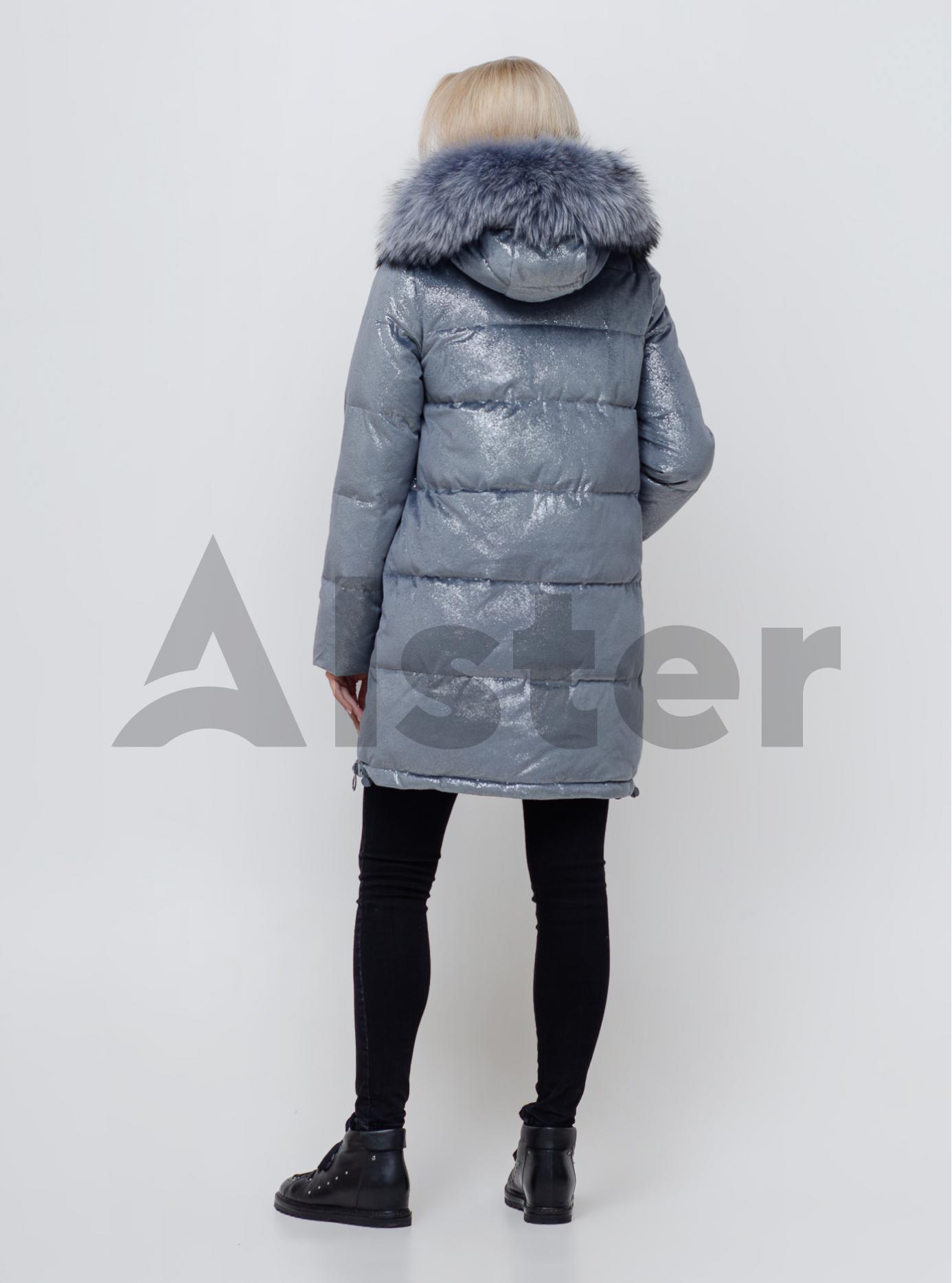 Жіноча зимова куртка з хутром Сіро-блакитний S (05-SV201084): фото - Alster.ua