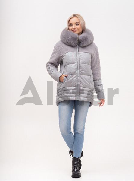 Куртка зимова з капюшоном і хутром песця