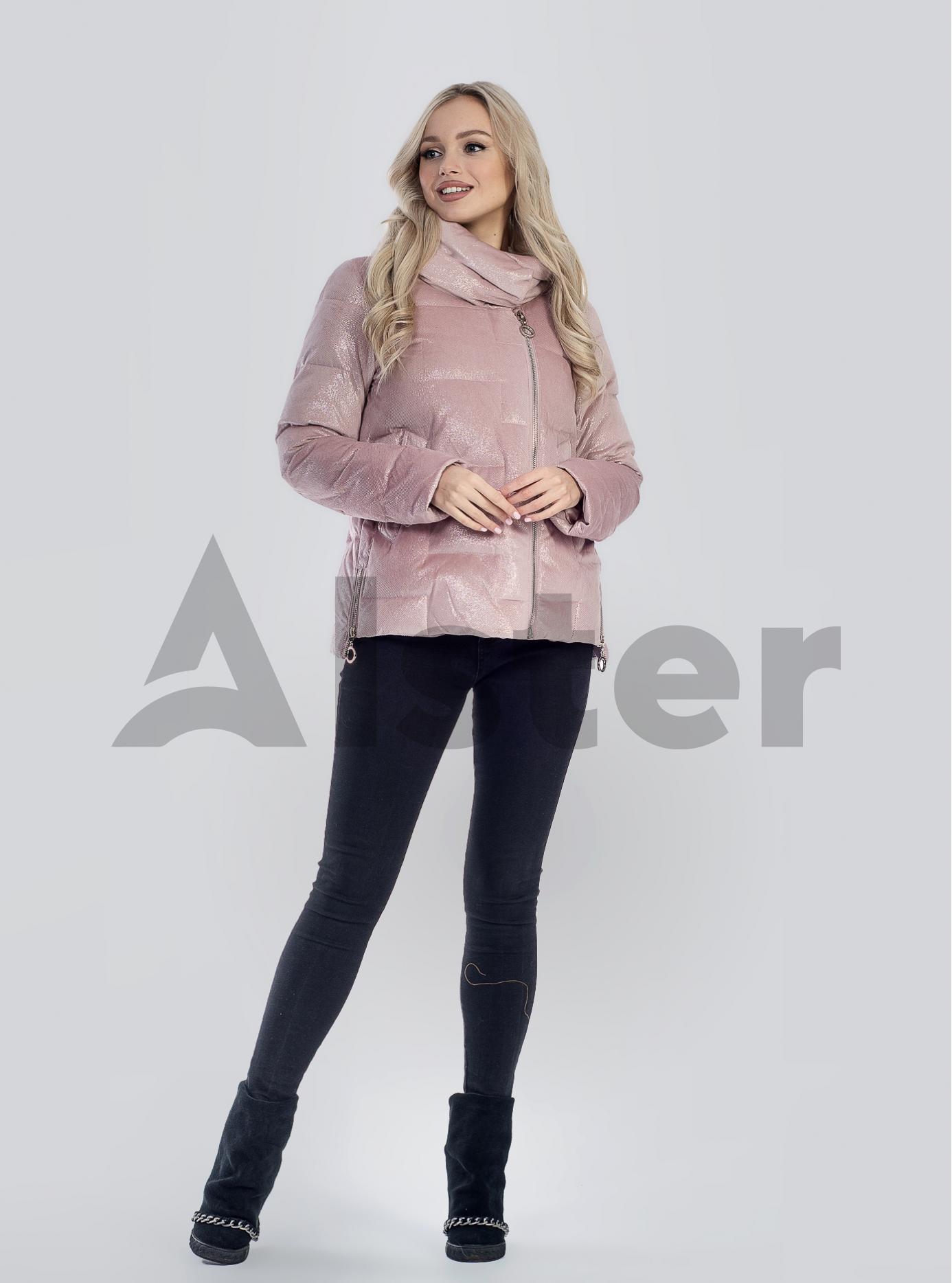 Зимова жіноча куртка Світло рожевий 2XL (05-SV201241): фото - Alster.ua