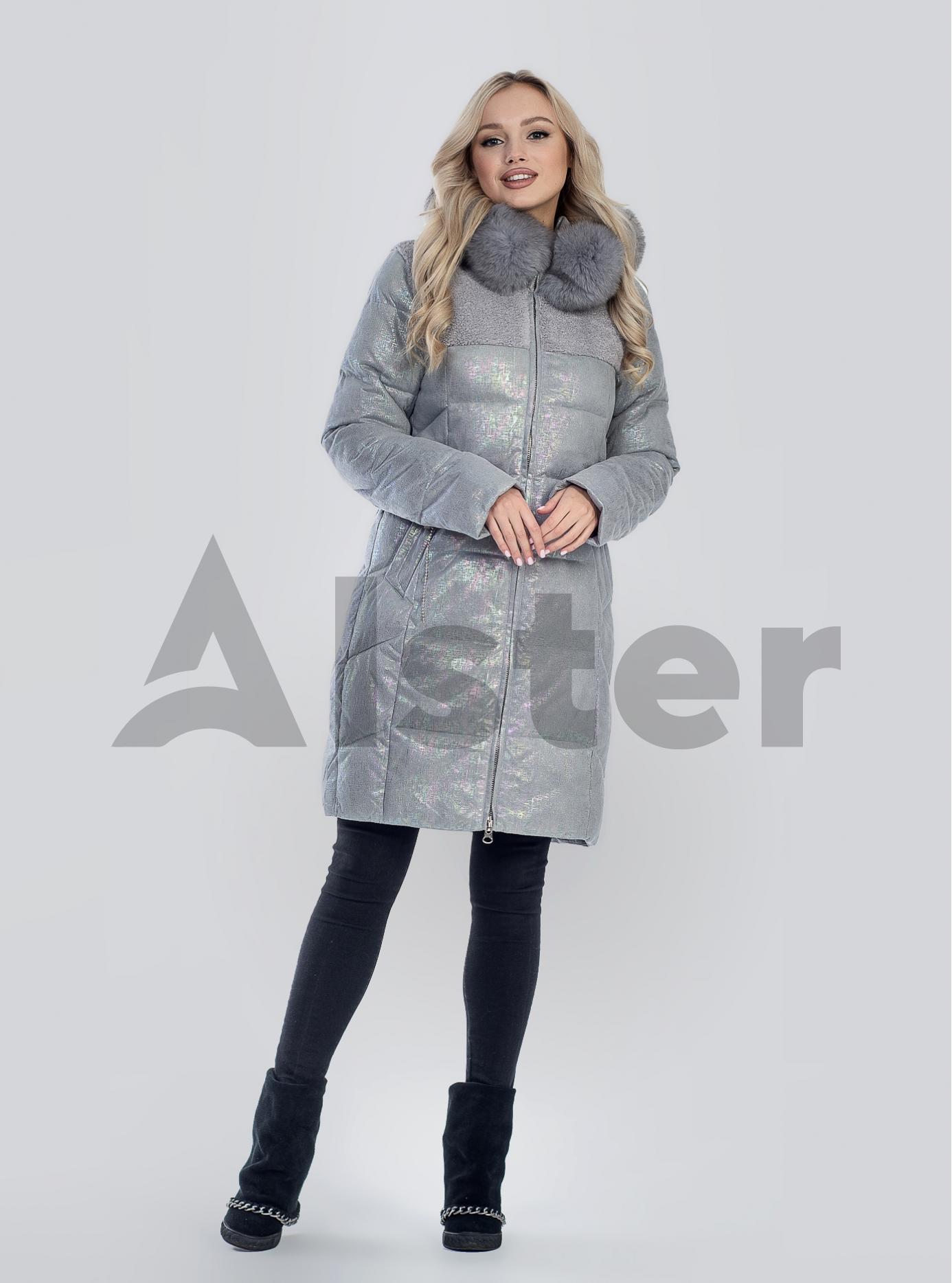 Зимова жіноча куртка з хутром Сірий 2XL (05-SV201211): фото - Alster.ua