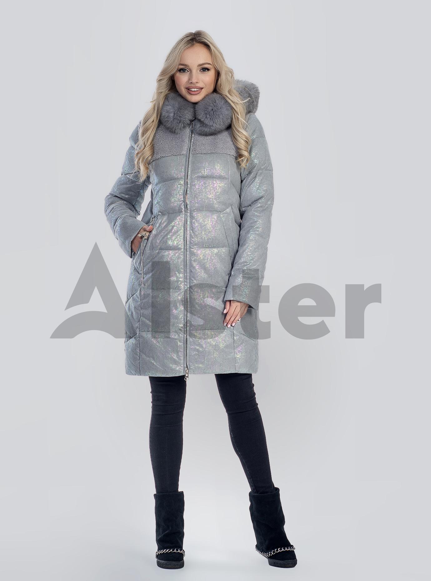 Зимова жіноча куртка з хутром Сірий S (05-SV201207): фото - Alster.ua