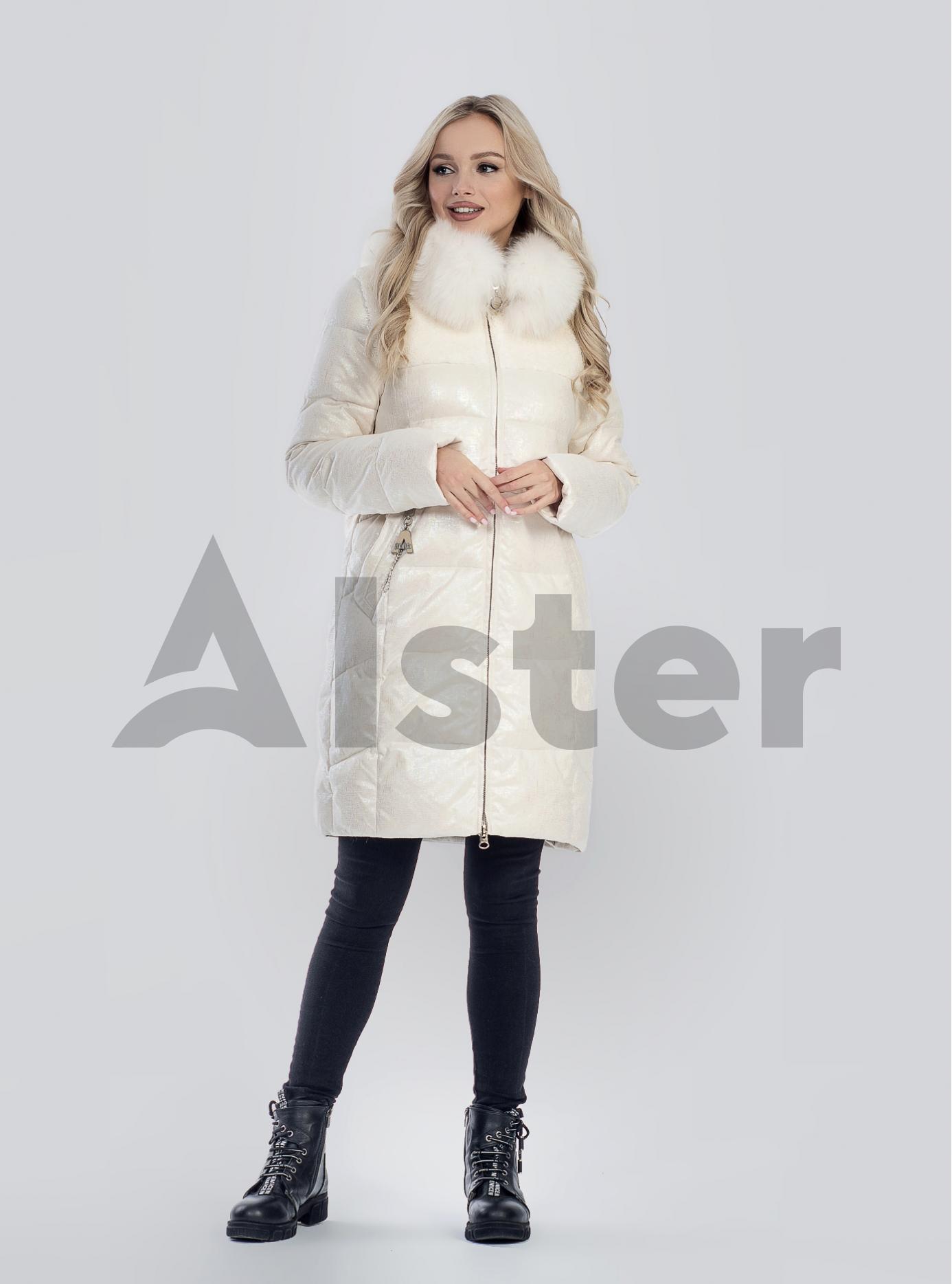 Зимова жіноча куртка з хутром Бежевий XL (05-SV201215): фото - Alster.ua