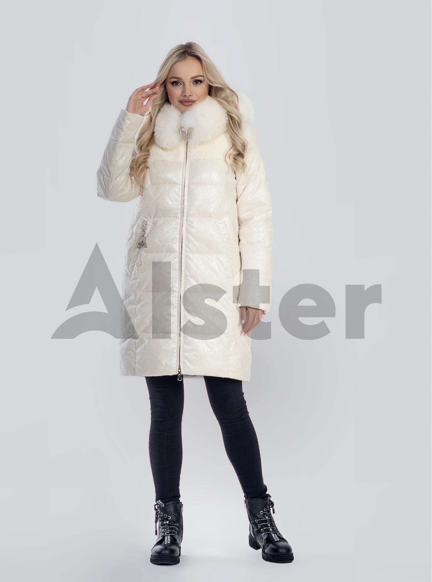 Зимова жіноча куртка з хутром Бежевий L (05-SV201214): фото - Alster.ua