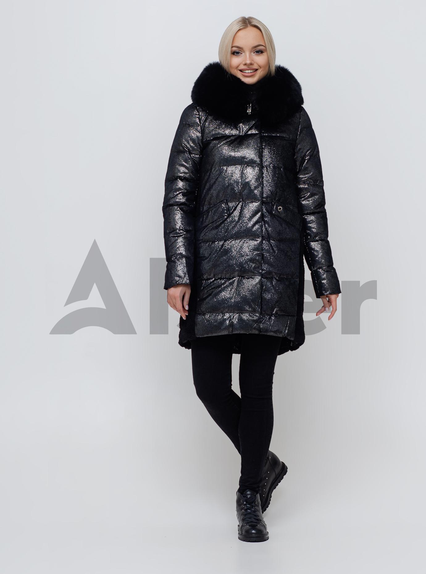 Женская зимняя куртка с мехом Чёрный S (05-SV201074): фото - Alster.ua